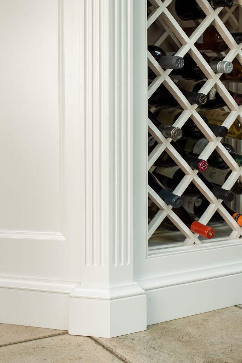 White Cabinet Wine Rack and Column