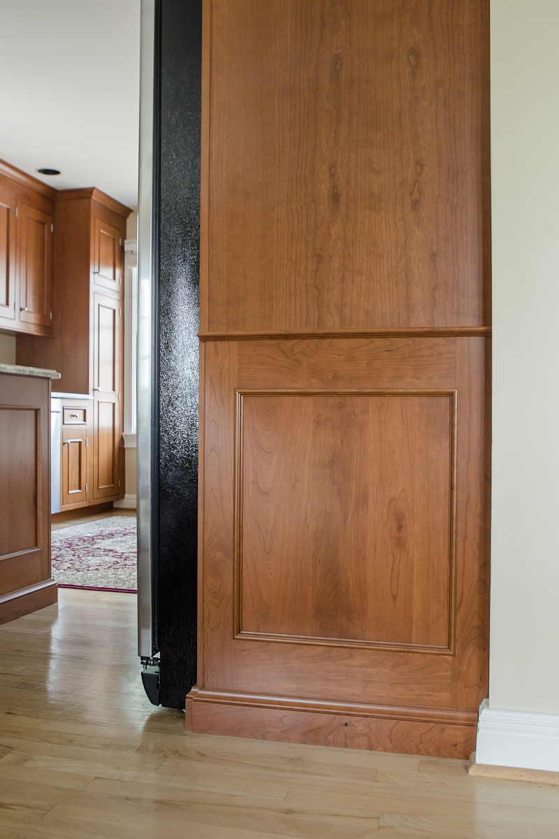 Cherry Kitchen Refrigerator Side Paneling