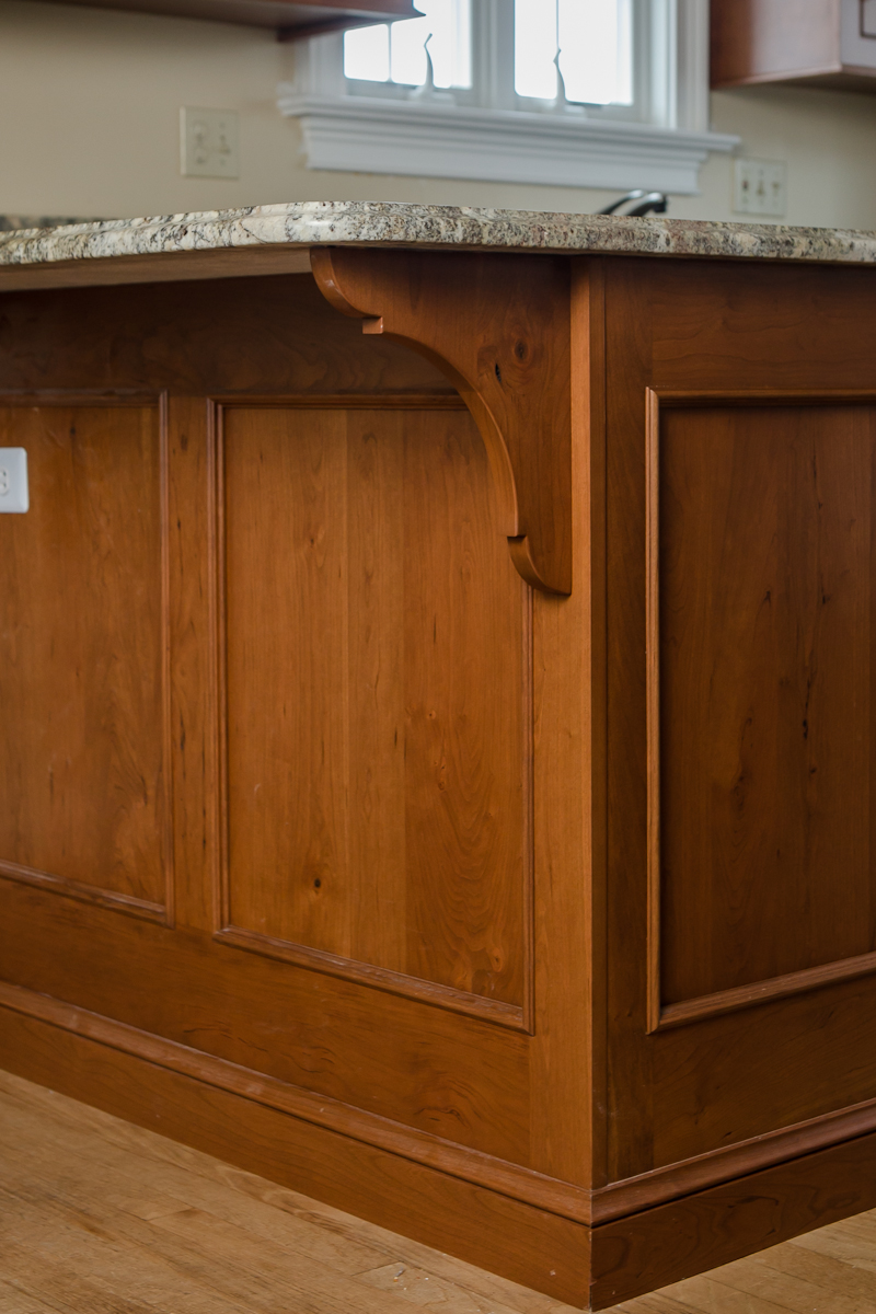 Cherry Custom Cabinet Corbel Counter Top Supports