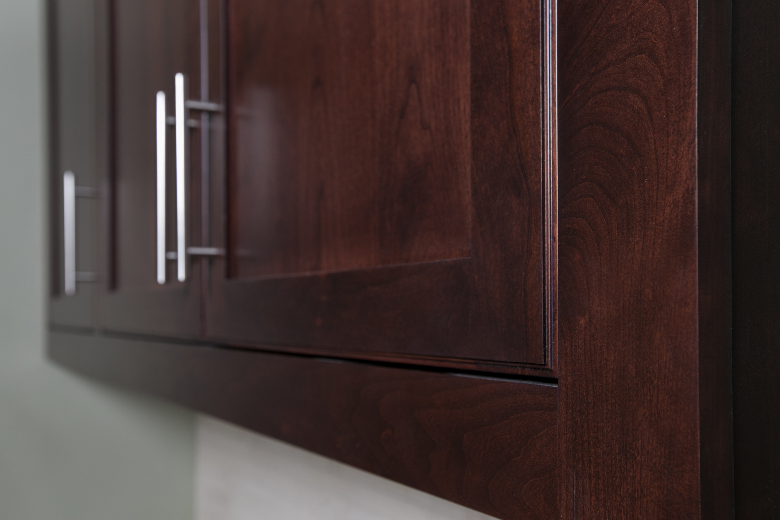 Inset Contemporary Cherry Cabinet Doors