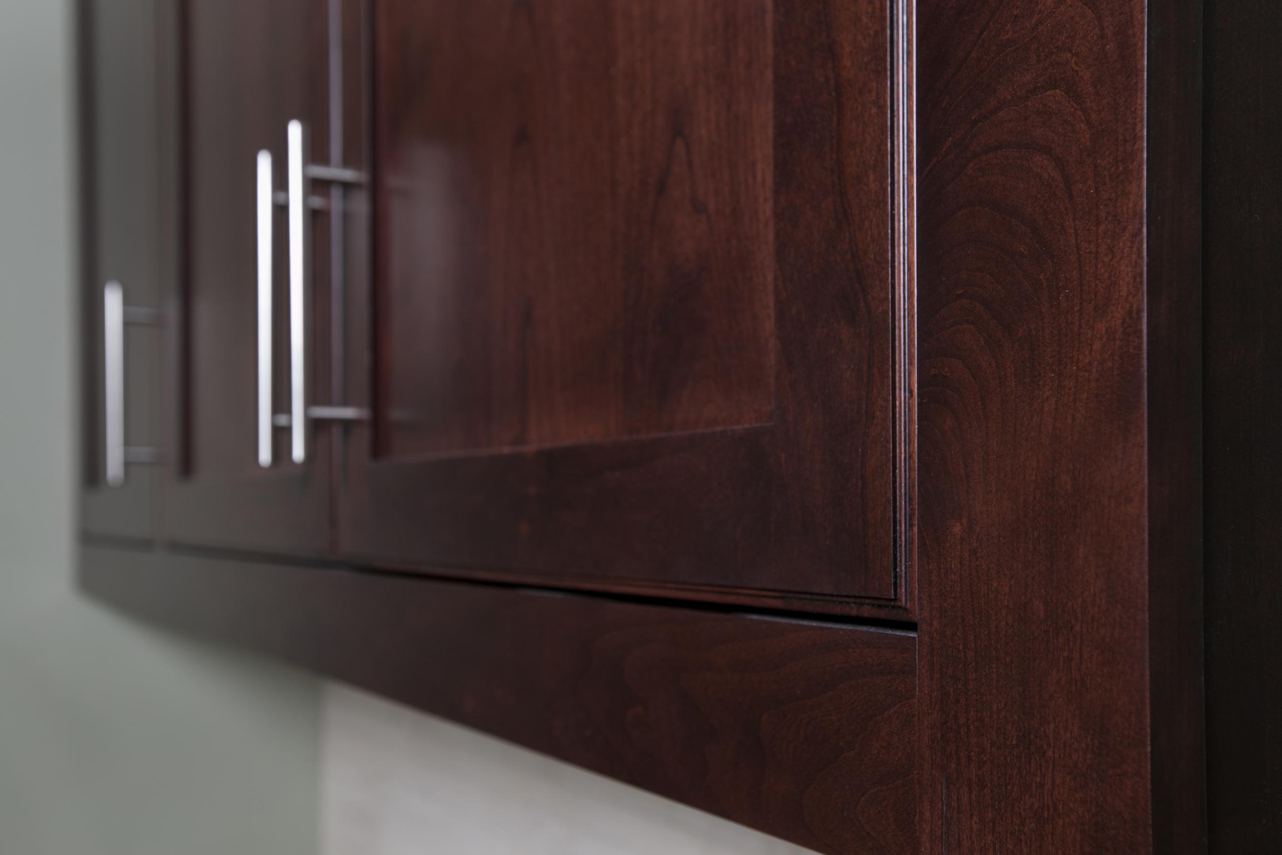 Inset Contemporary Cherry Cabinet Doors