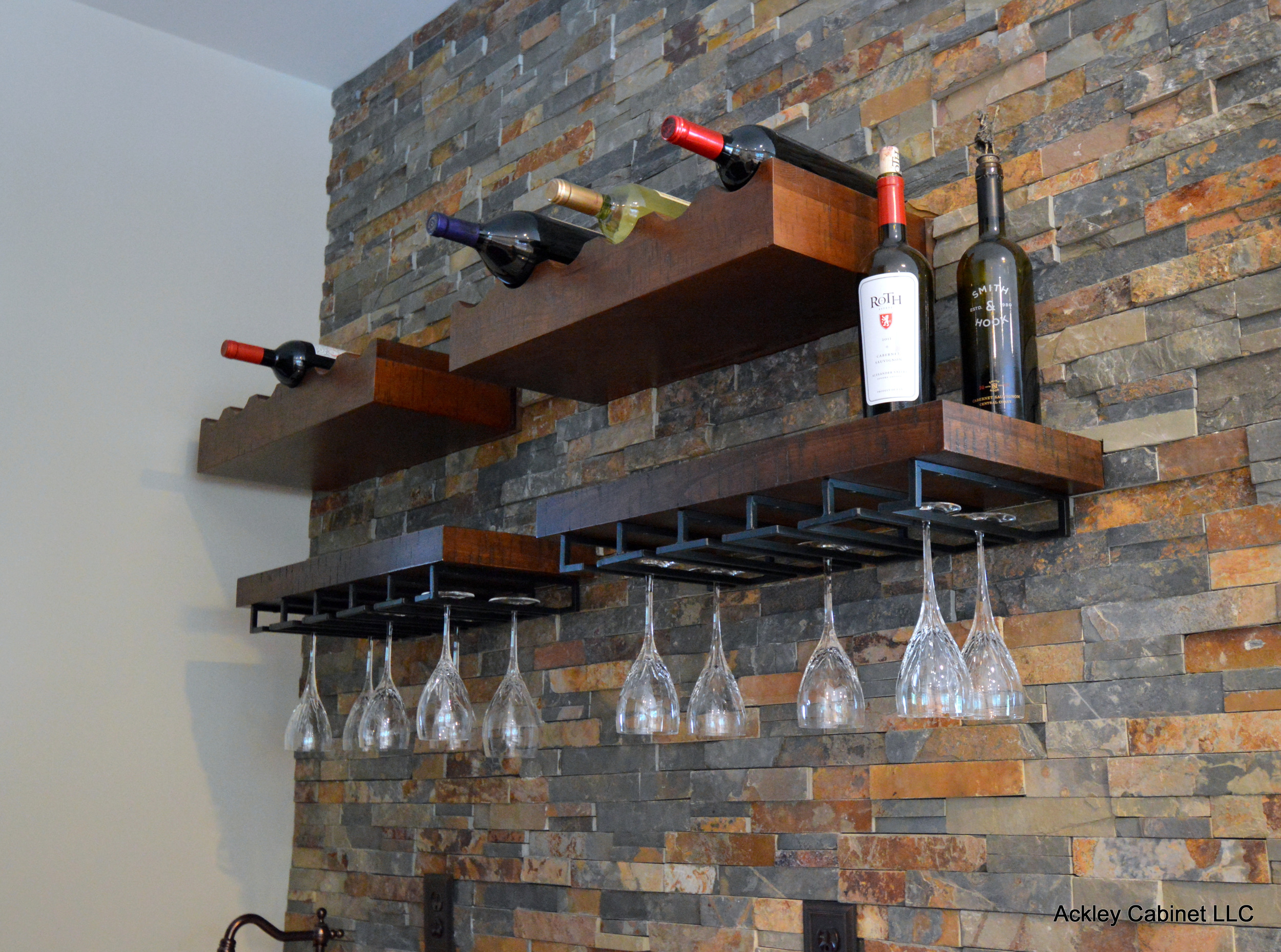 Wood Wine Rack and Stemware Rack