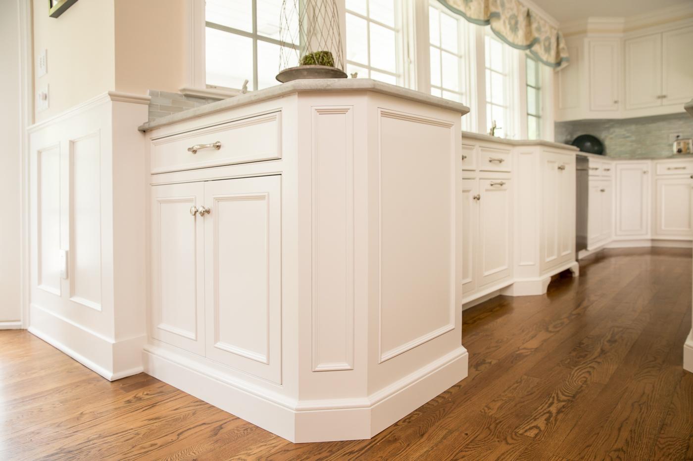 White Kitchen Cabinet End Panels