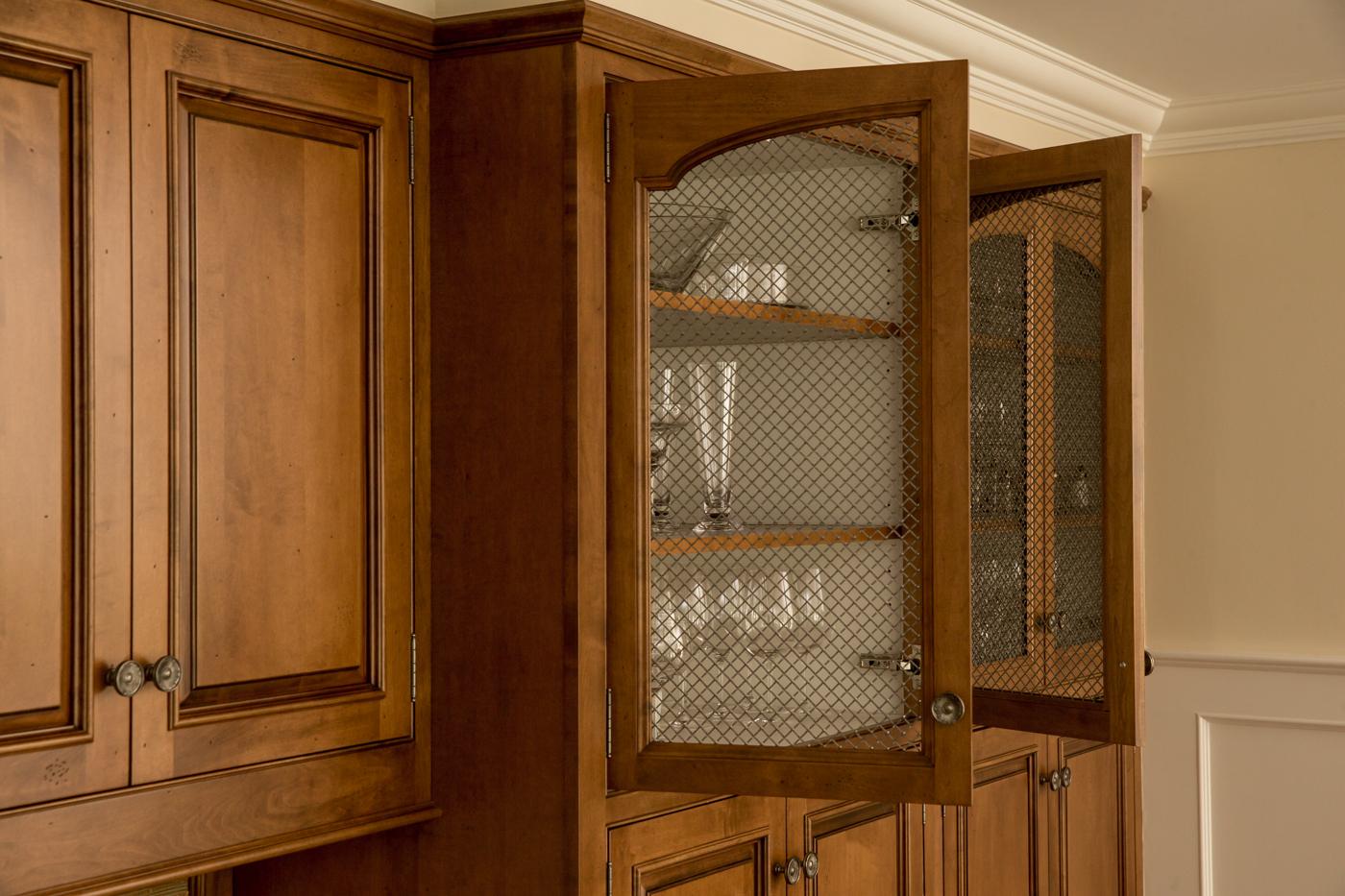 Wire Mesh Kitchen Cabinet Glass Door