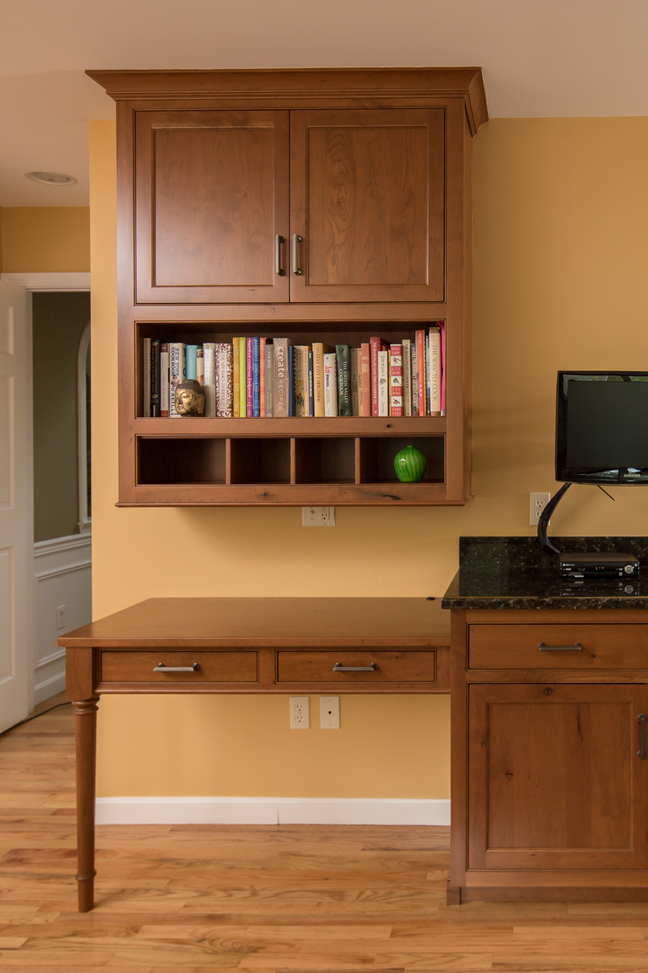 Cherry Kitchen Desk and Bookshelf