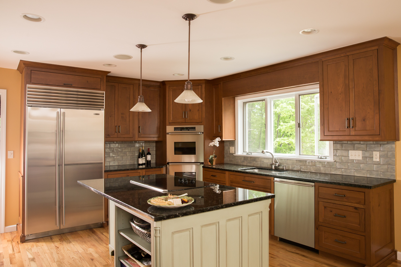 Transitional Cherry Kitchen Cabinets