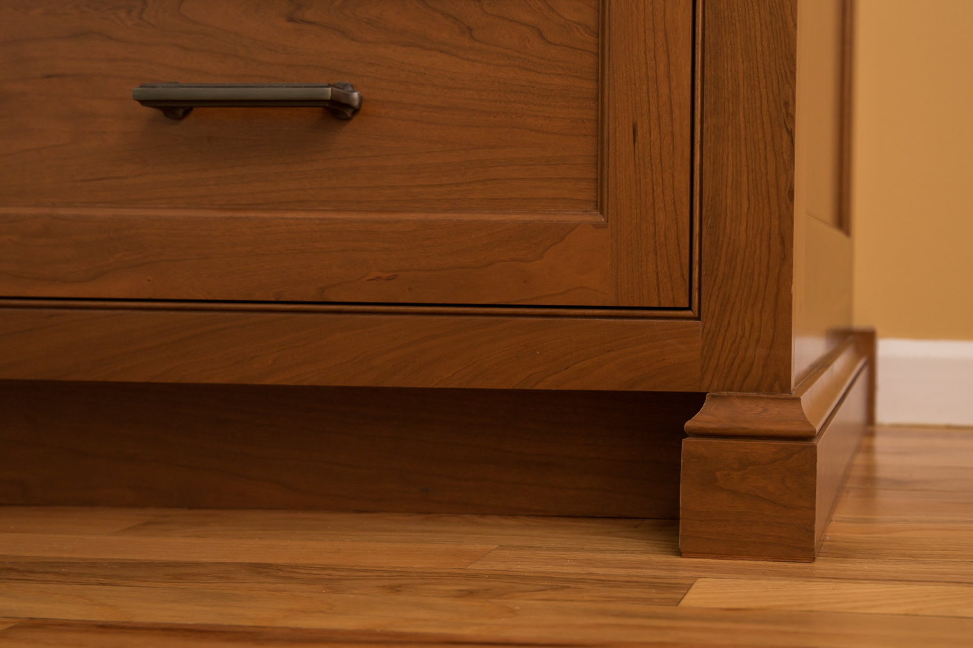 Inset Cherry Kitchen Baseboard