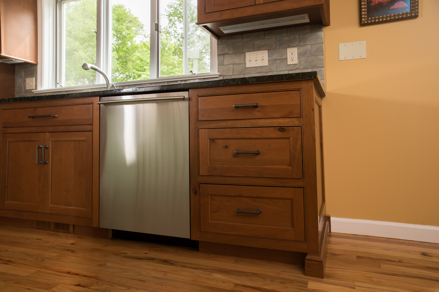 Rustic Cherry Custom Kitchen Drawers