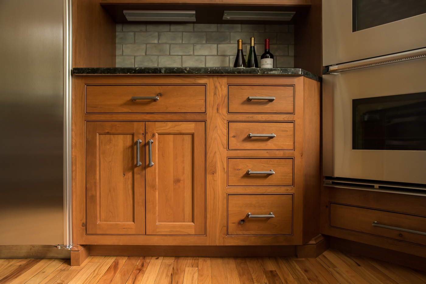 Transitional Custom Cherry Kitchen Cabinets