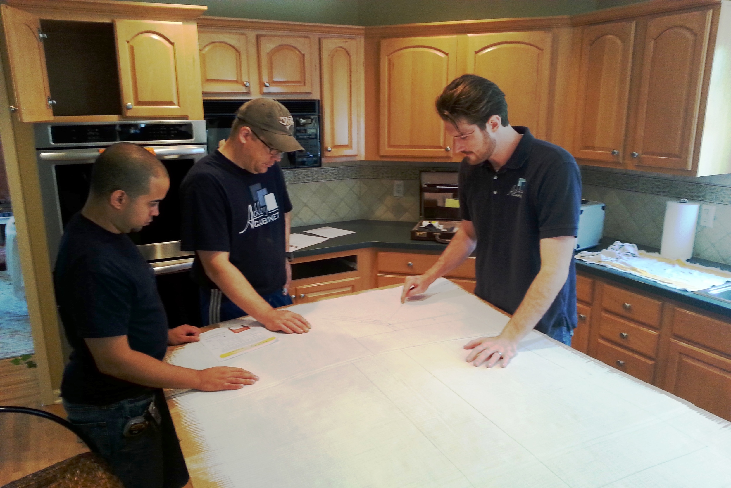 Ackley Cabinet Installation Team