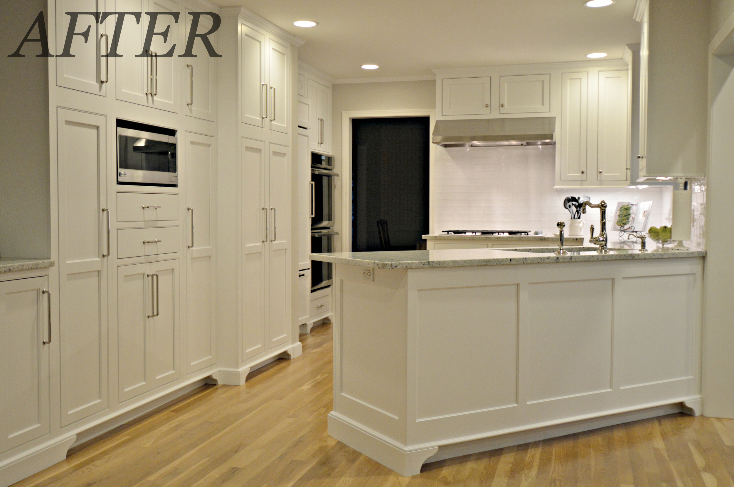 Ackley Cabinet - White Kitchen After Photo