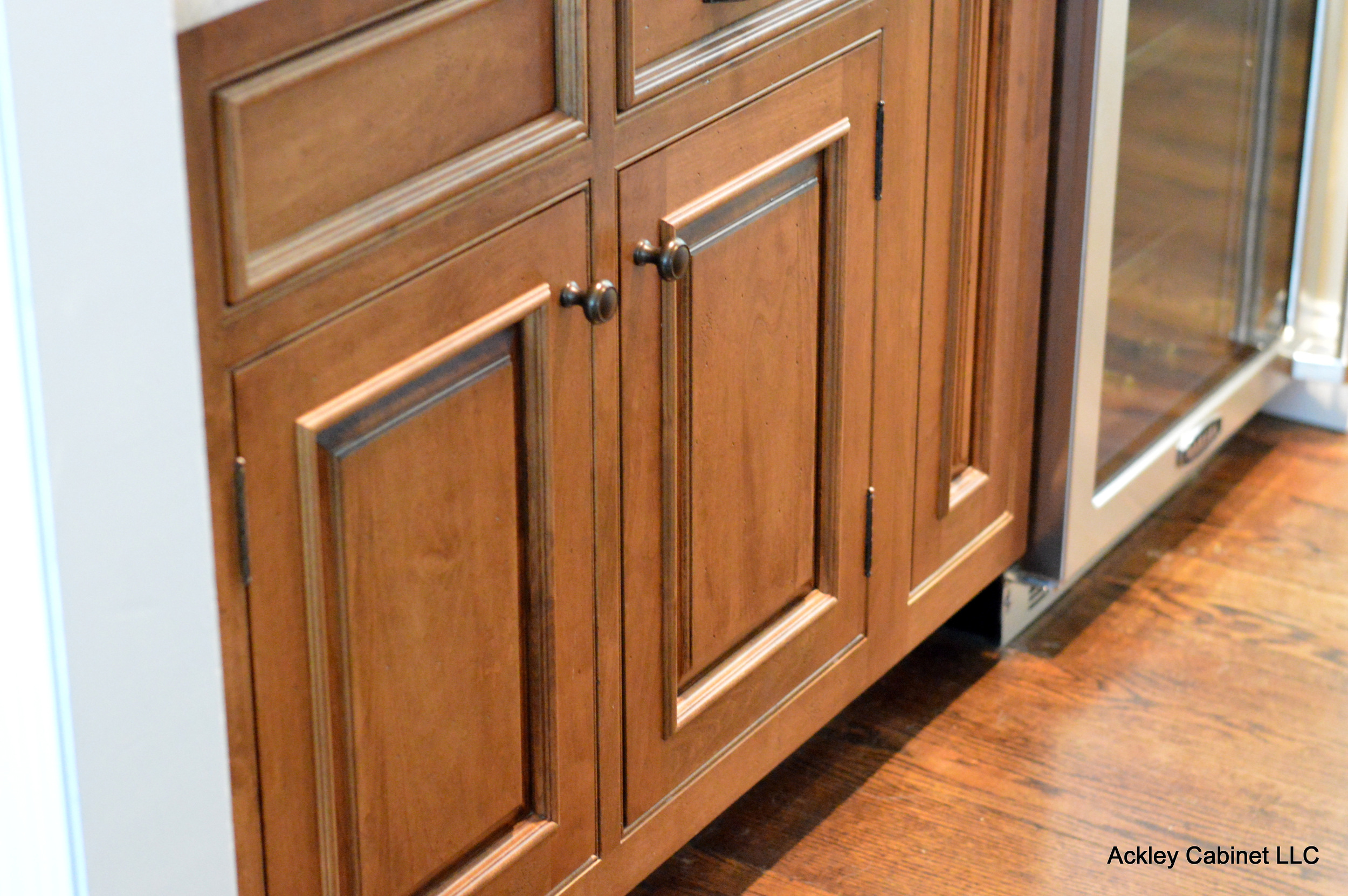 Traditional Distressed Wood Cabinets