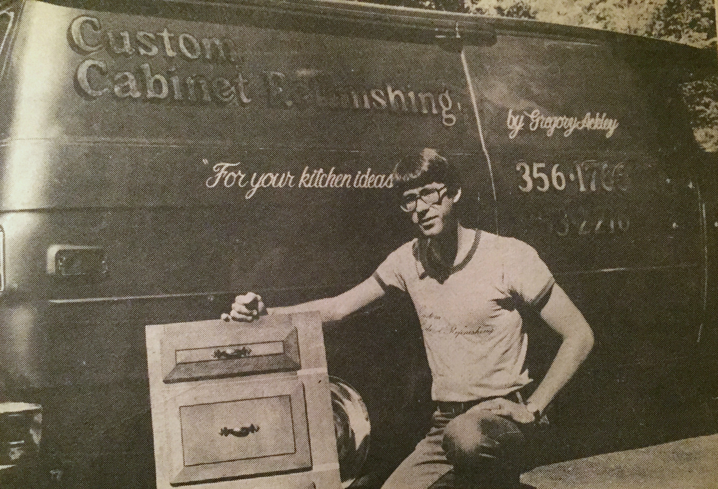Greg Ackley - Custom Cabinet Refinishing 1971