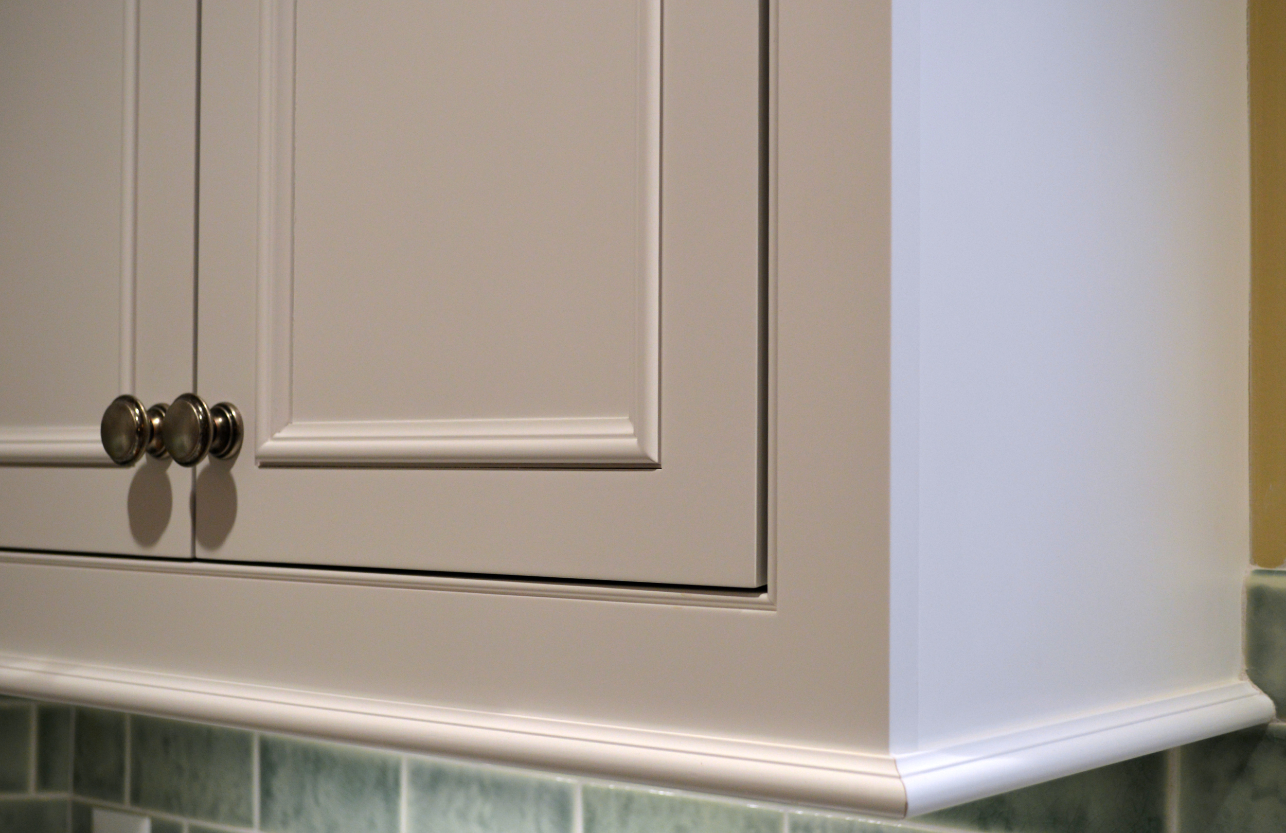 White Inset Applied Moulding Cabinets
