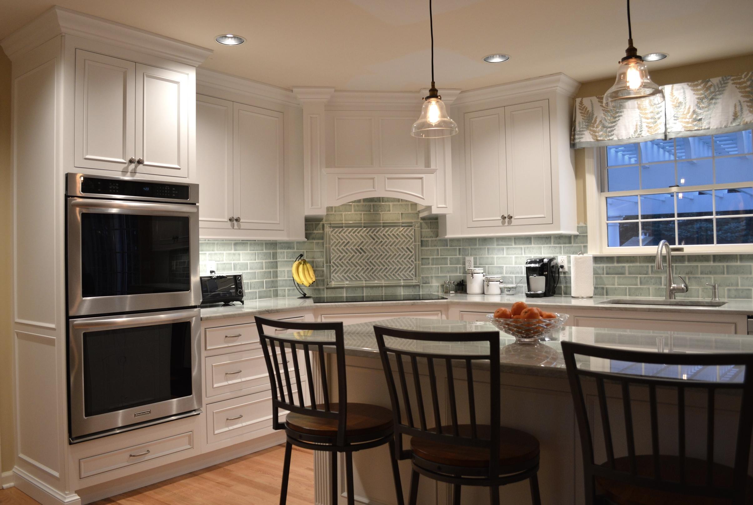 White Custom Kitchen Hood