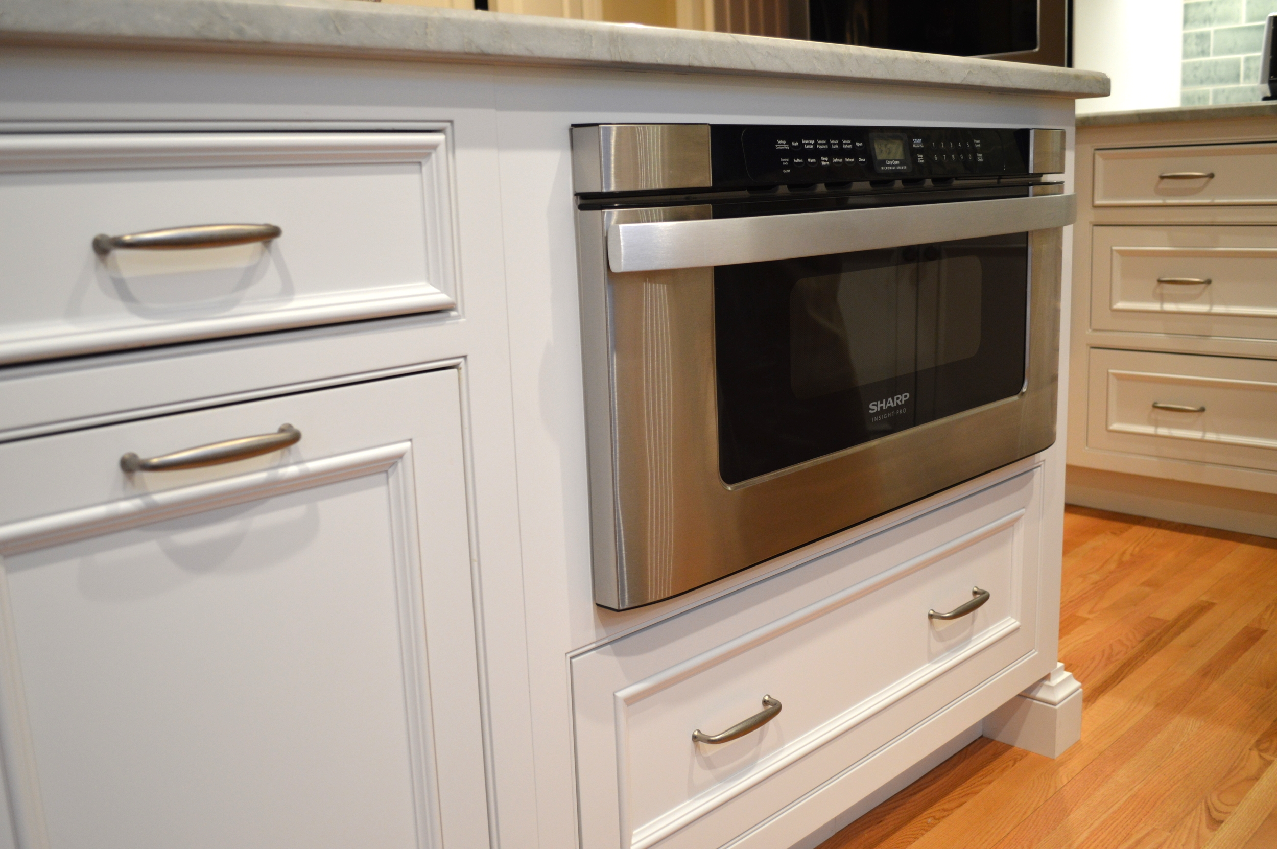 White Island Drawer Microwave