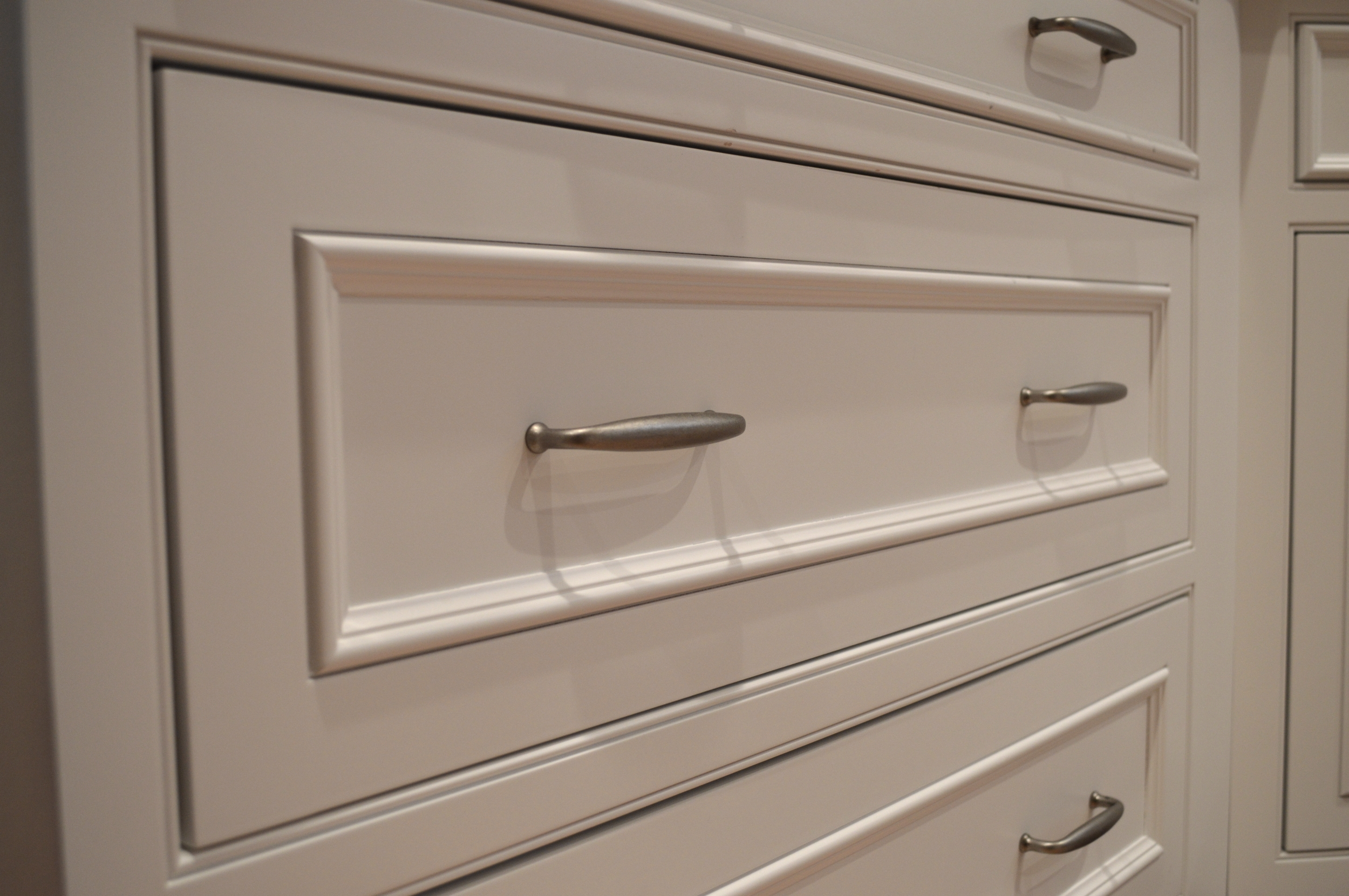 White Applied Moulding Inset Cabinets