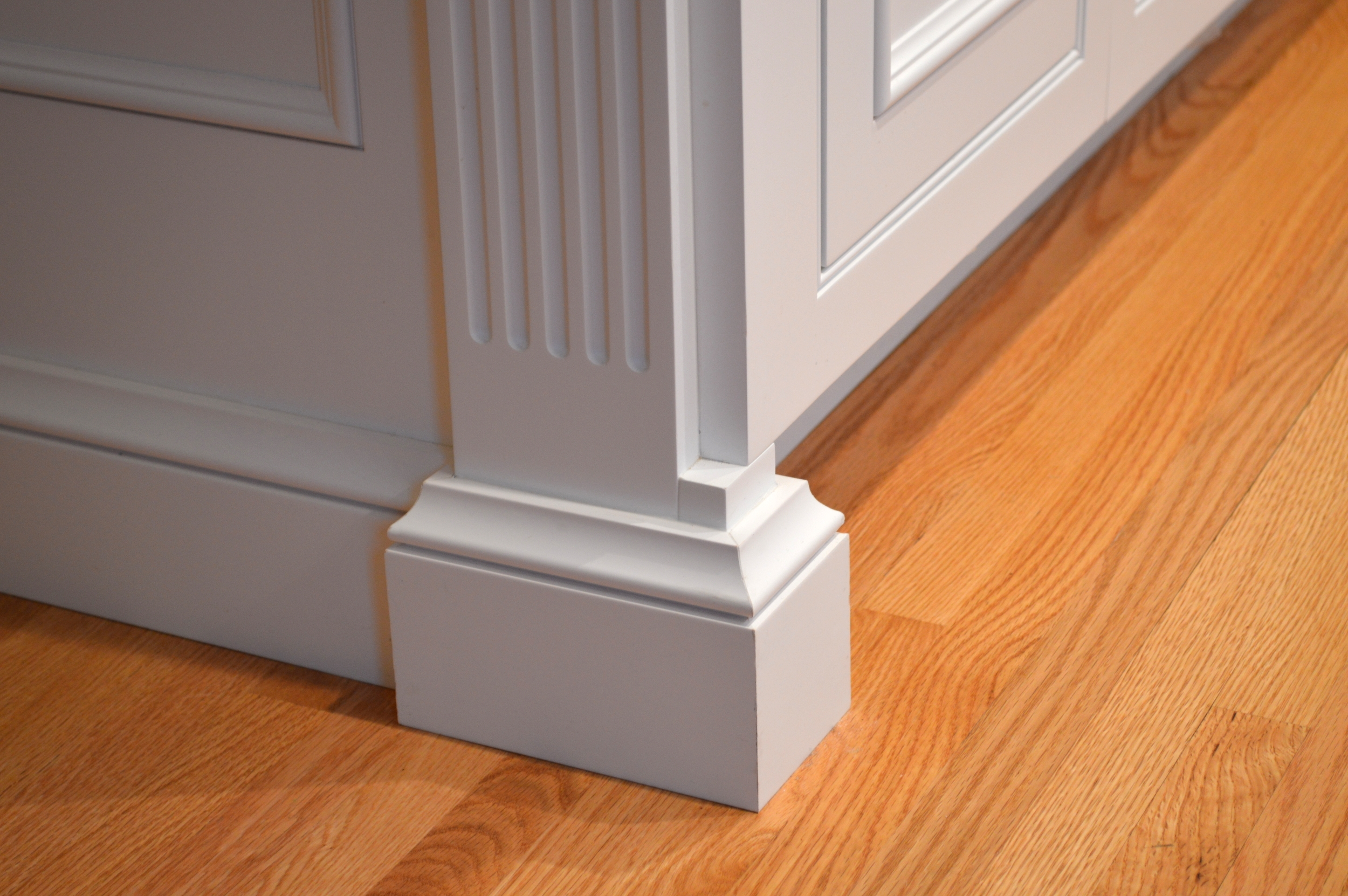 Kitchen Baseboard and Column Detail