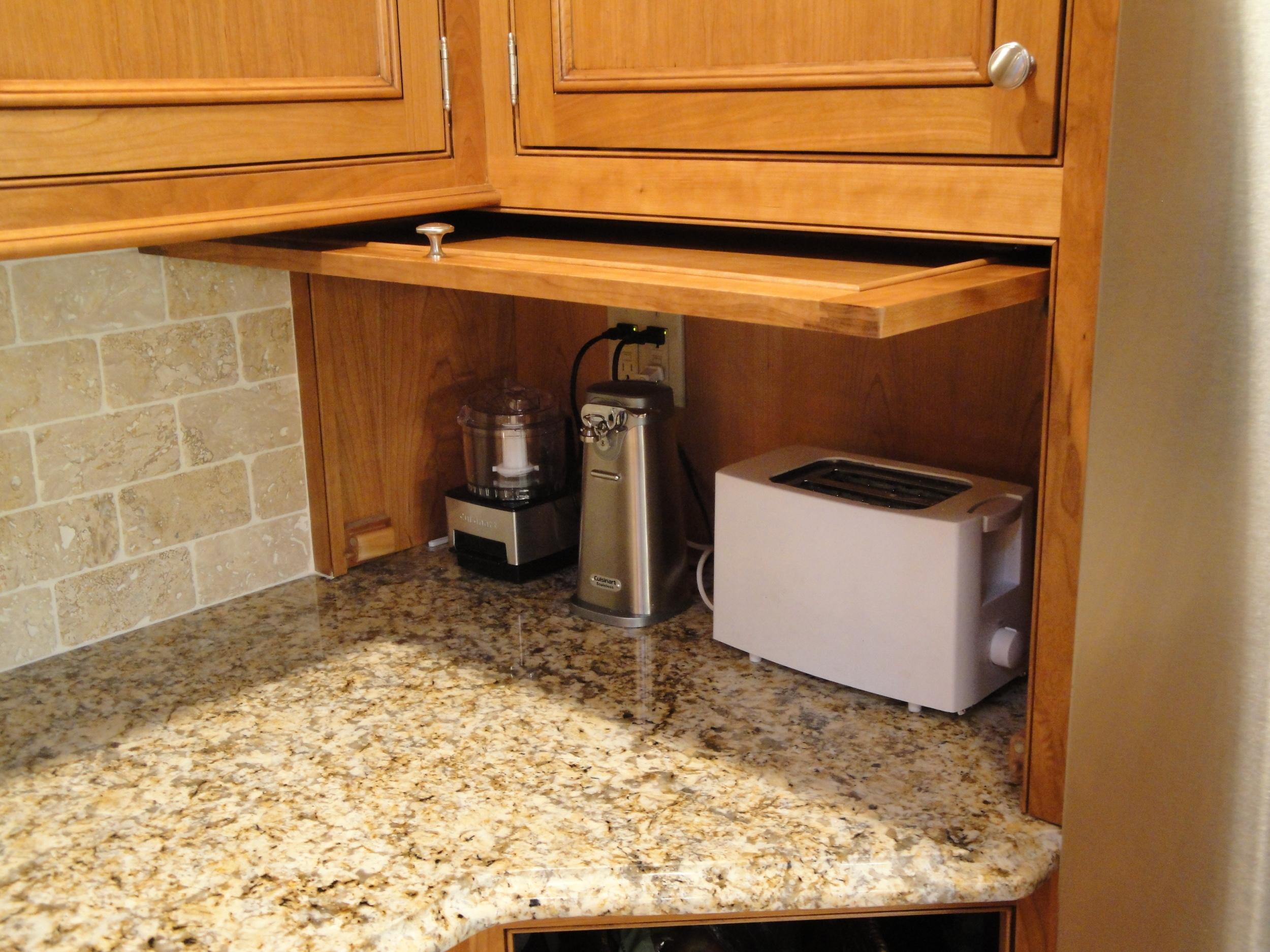 Kitchen cabinet appliance garage
