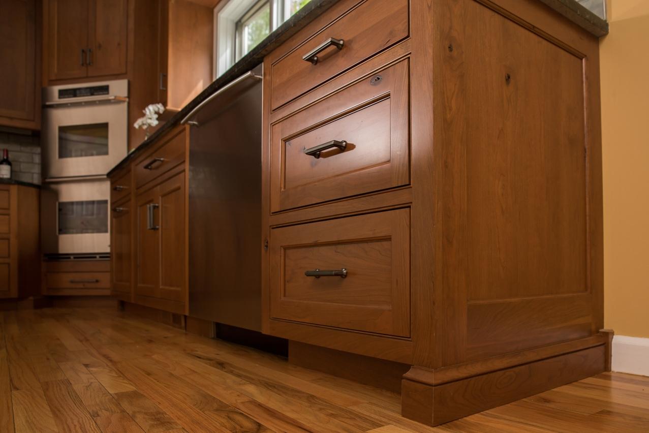 Cherry cabinet shaker drawers