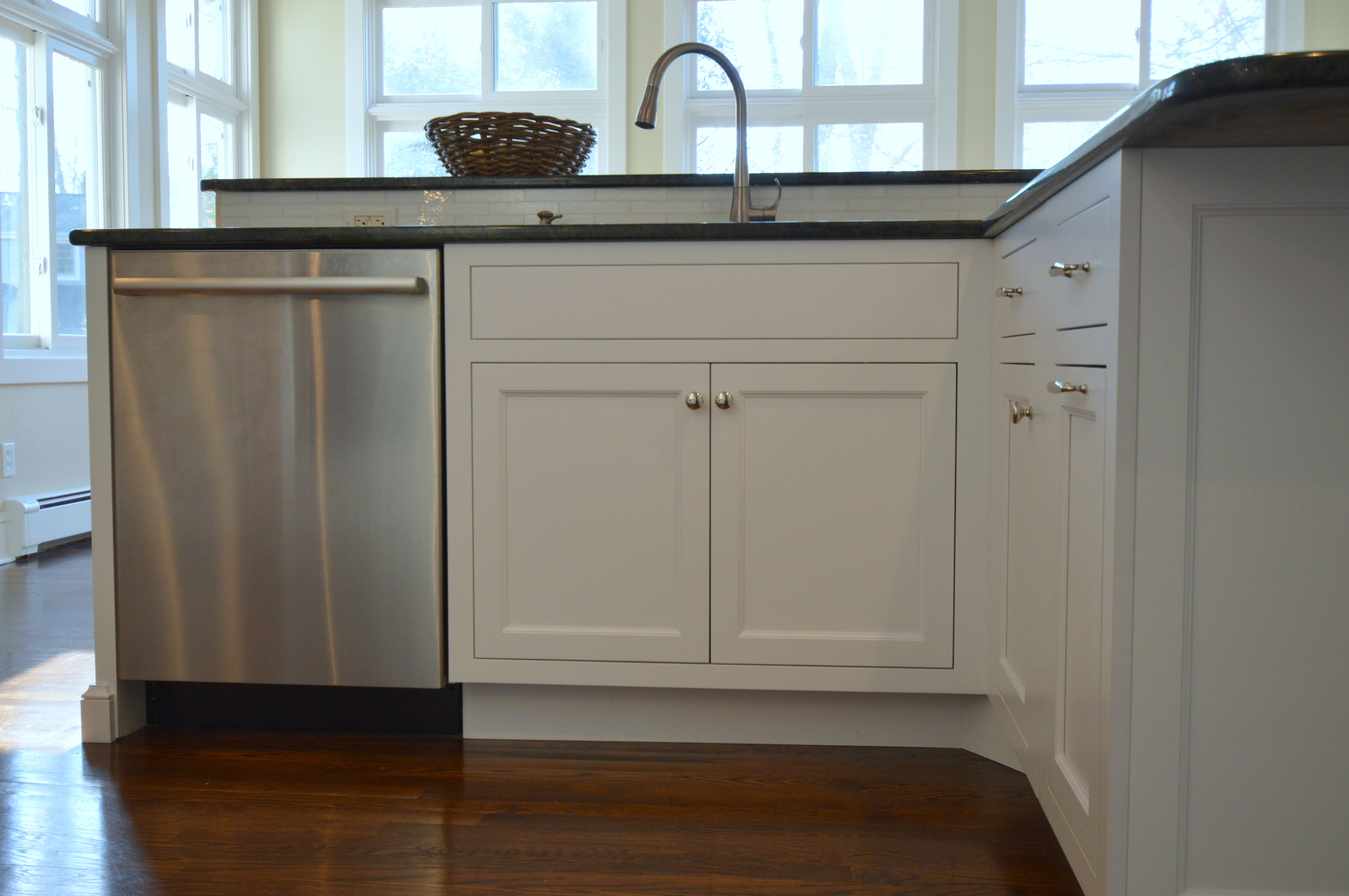 Inset White Cabinet Doors - Sink Base