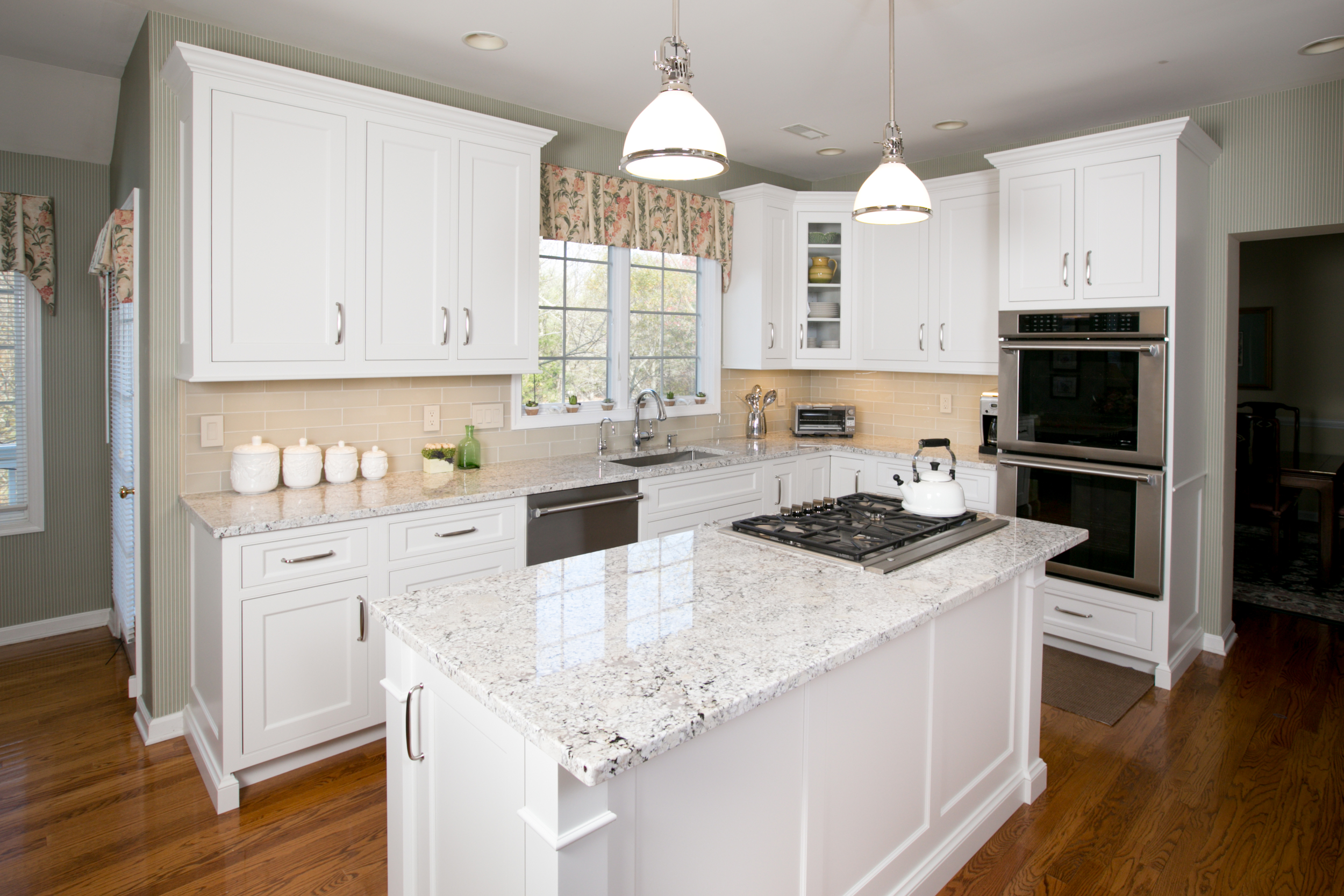 Transitional White Kitchen - Custom Cabinets | Fairfield CT