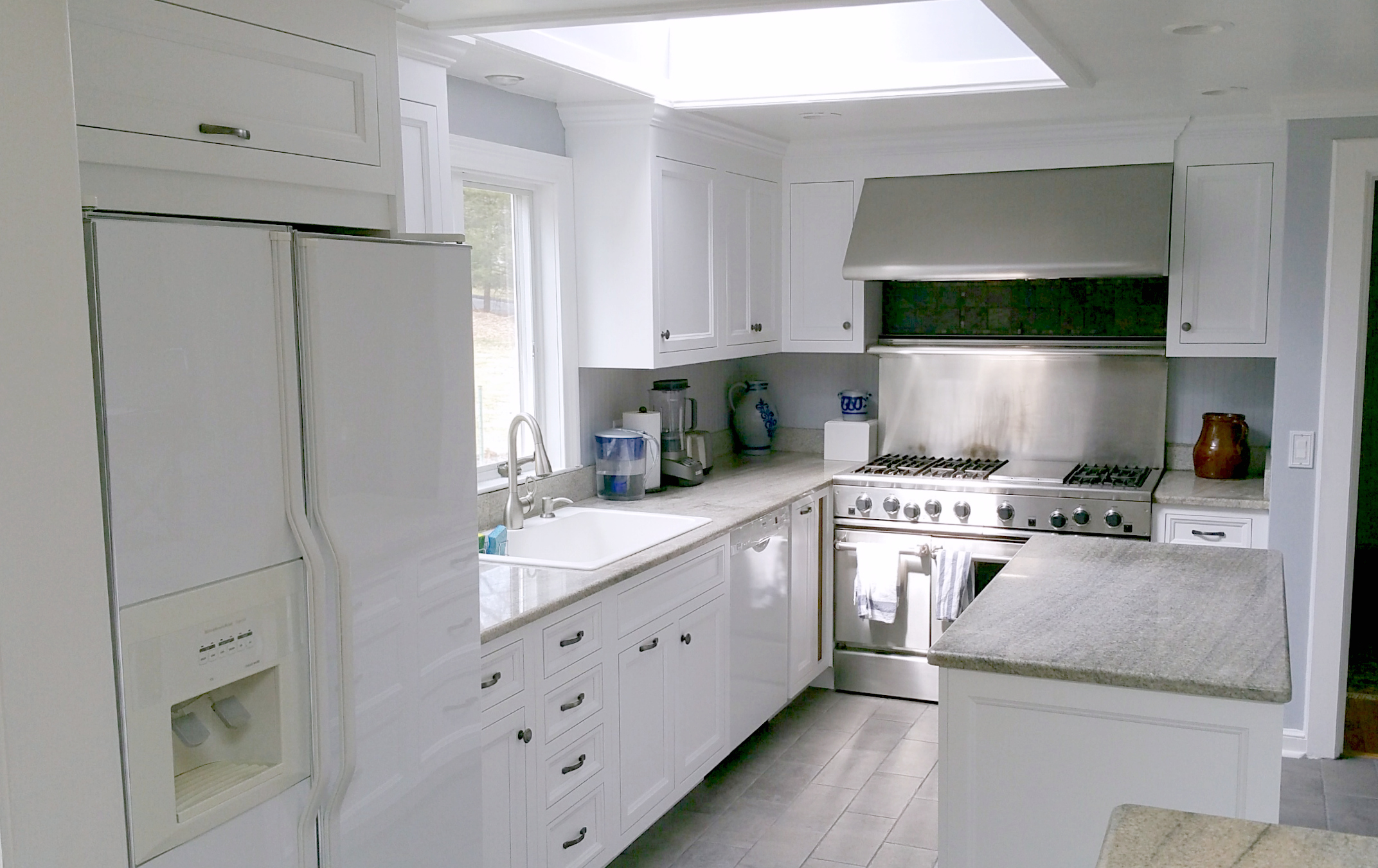 Wilton CT - White Kitchen Cabinet Remodel Project (After)