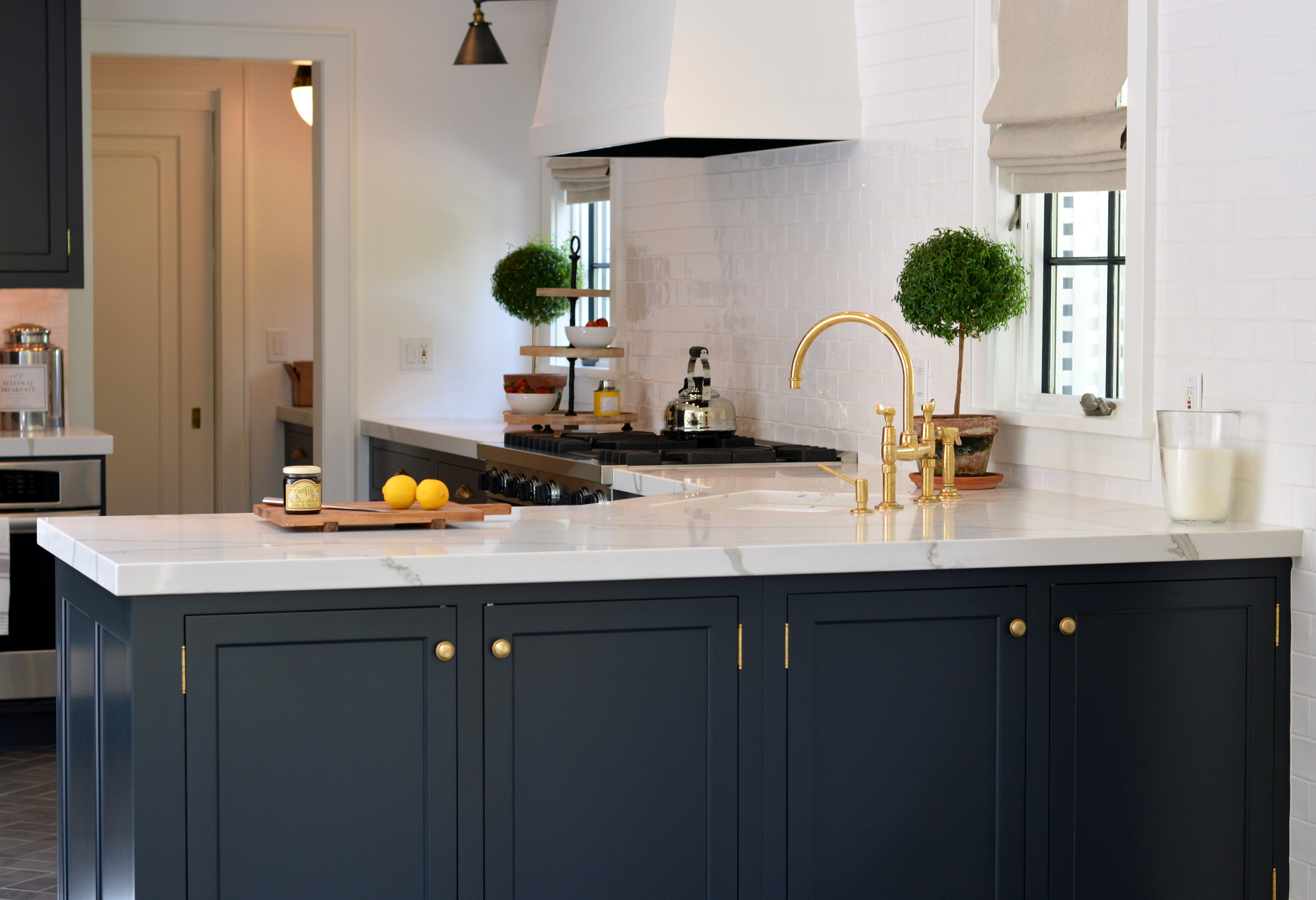 Off Black Custom Kitchen Cabinet Remodel - Intervale Place, Greenwich CT