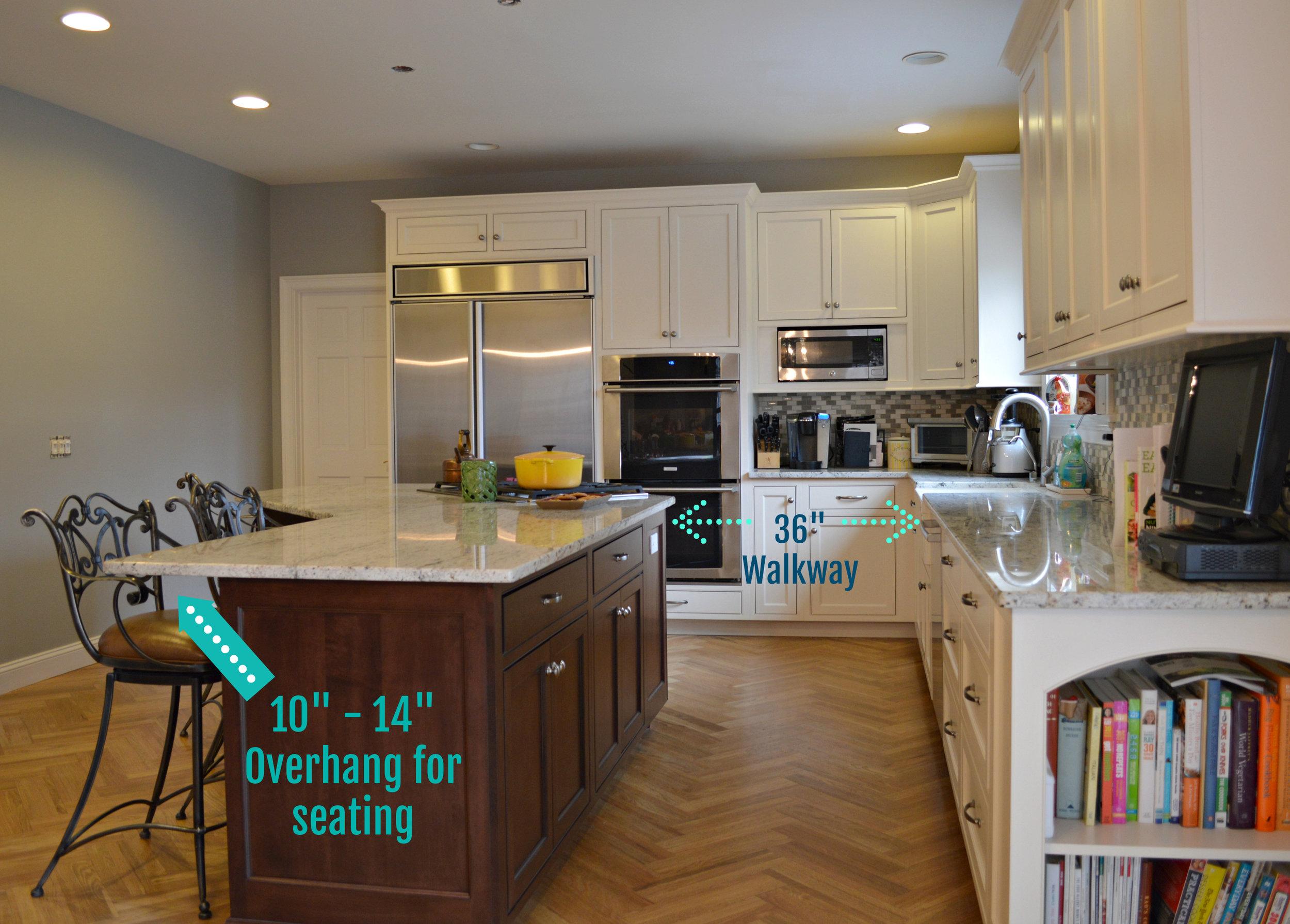 White Custom Kitchen with Dark Expresso Island - Ackley Cabinet.JPG