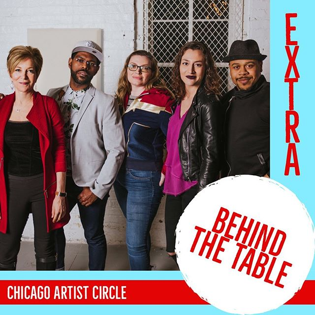 New bonus clip!  Learn what inspires these artists.  Find link @chicagoartistcircle .  #chiartistcircle #behindthetable #webseries #idirectedthis