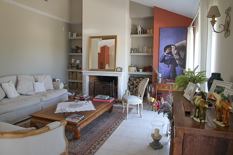 Living area of the farmhouse