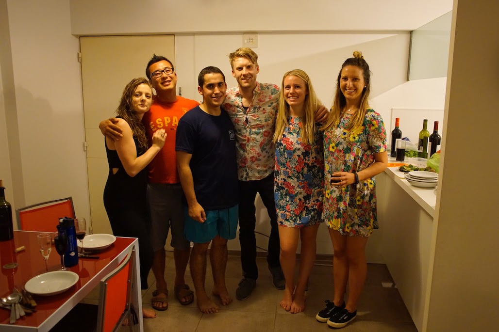 Signe, Charles, Gabi, some goofball, Lindsay & Casey. On the other side of the lens: Derryl