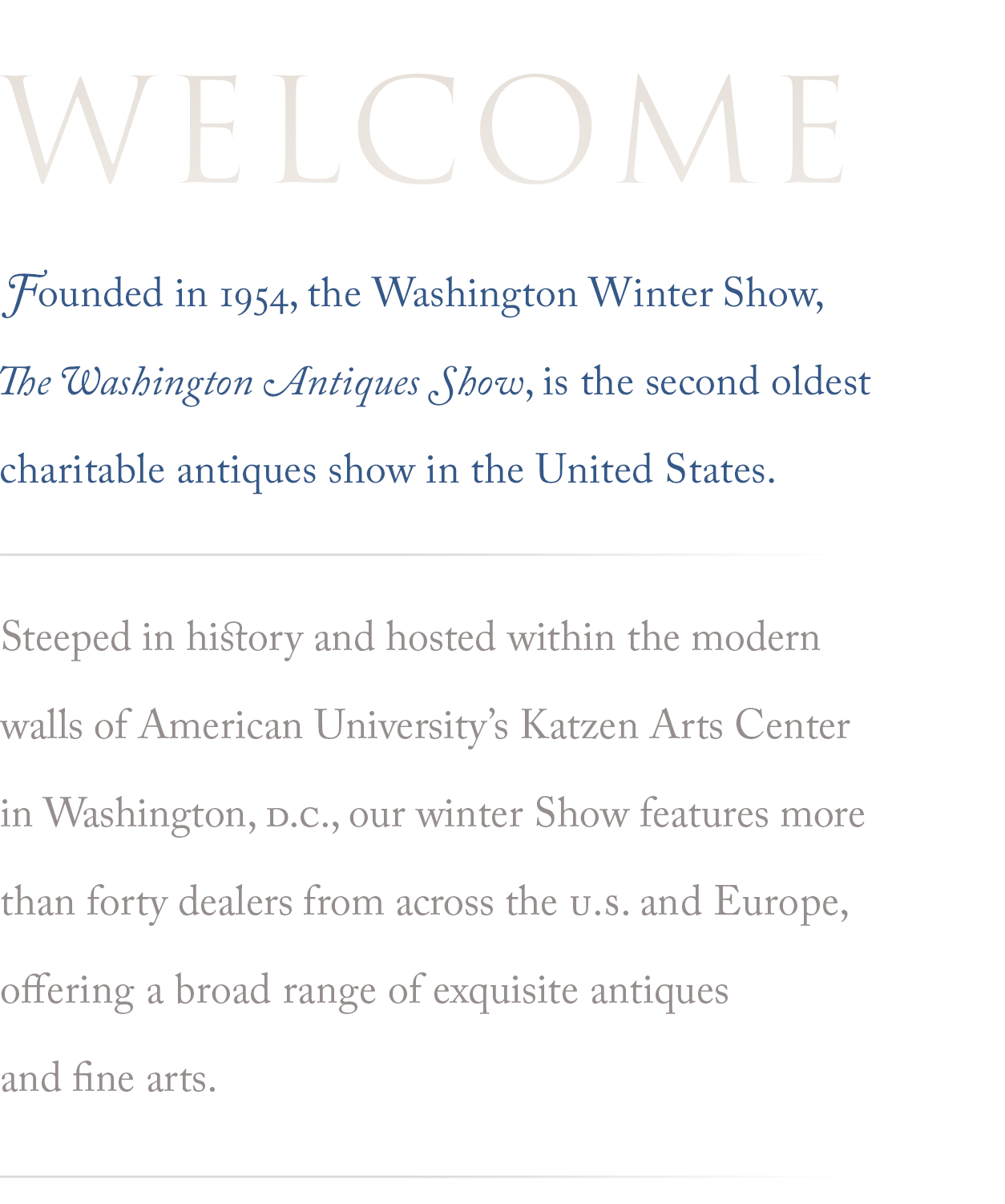 About the Washington Winter Show organization: Learn more…