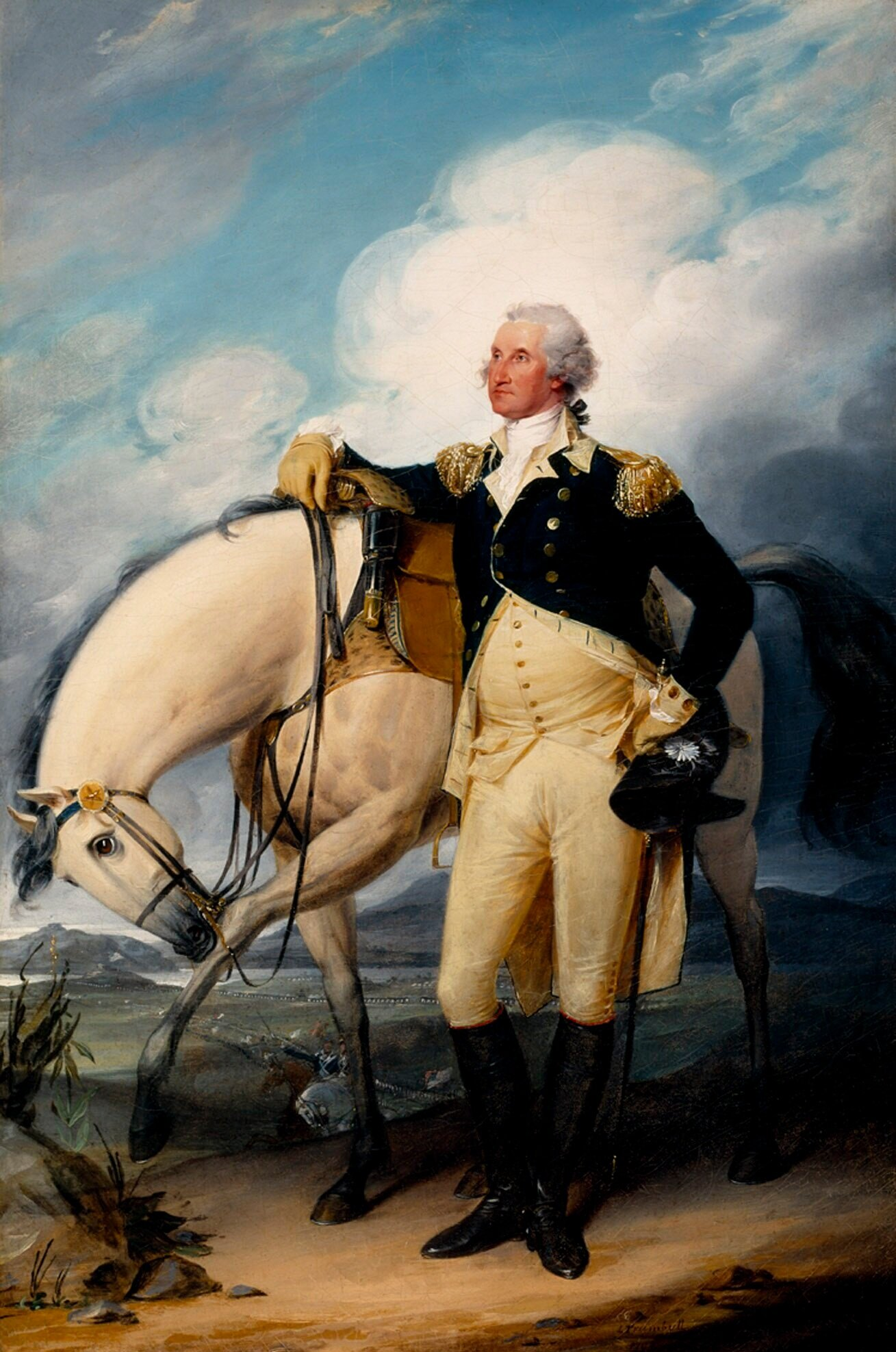 Washington at Verplanck's Point , John Trumbull, 1790, Winterthur Museum, Garden and Library, Winterthur, Delaware