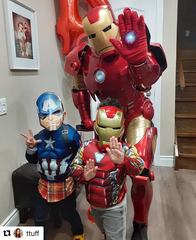 We love it when families share pictures from their parties with us! So cute! Hope everyone had a blast💥💪! #Repost @ttuff with @get_repost ・・・ #4thbirthdayparty #tiano #ironman #avengers #captainamerica @blazingswatt @inspiringimaginationsgta