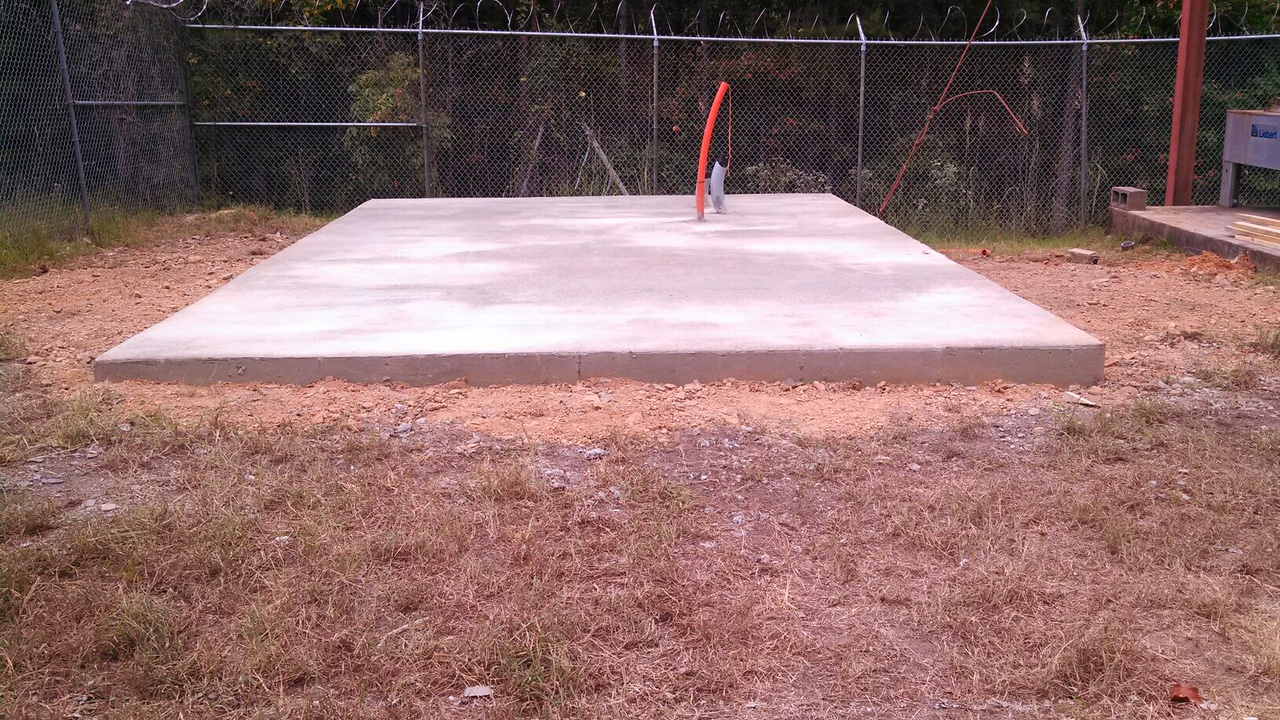 400 KW Generator pad (15ft X23ft) for ABC 33/40 by Craft Electric.
