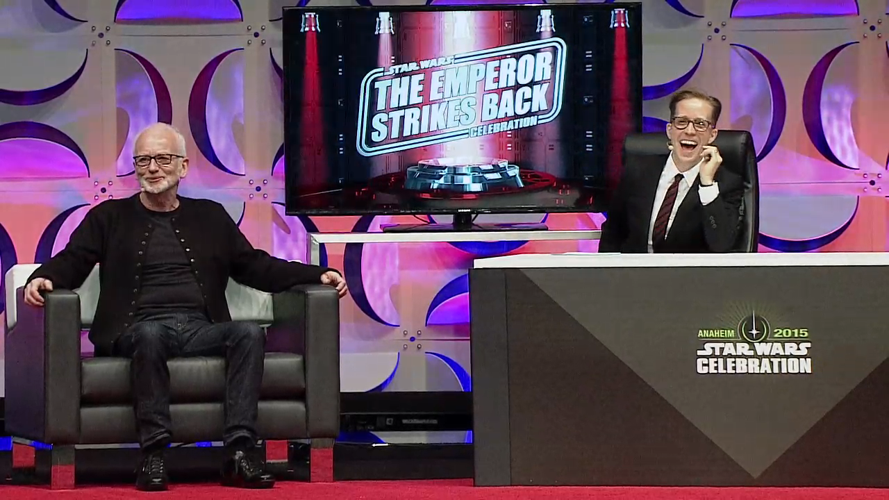 JAT and Ian McDiarmid Star Wars  Celebration Anaheim 2015.