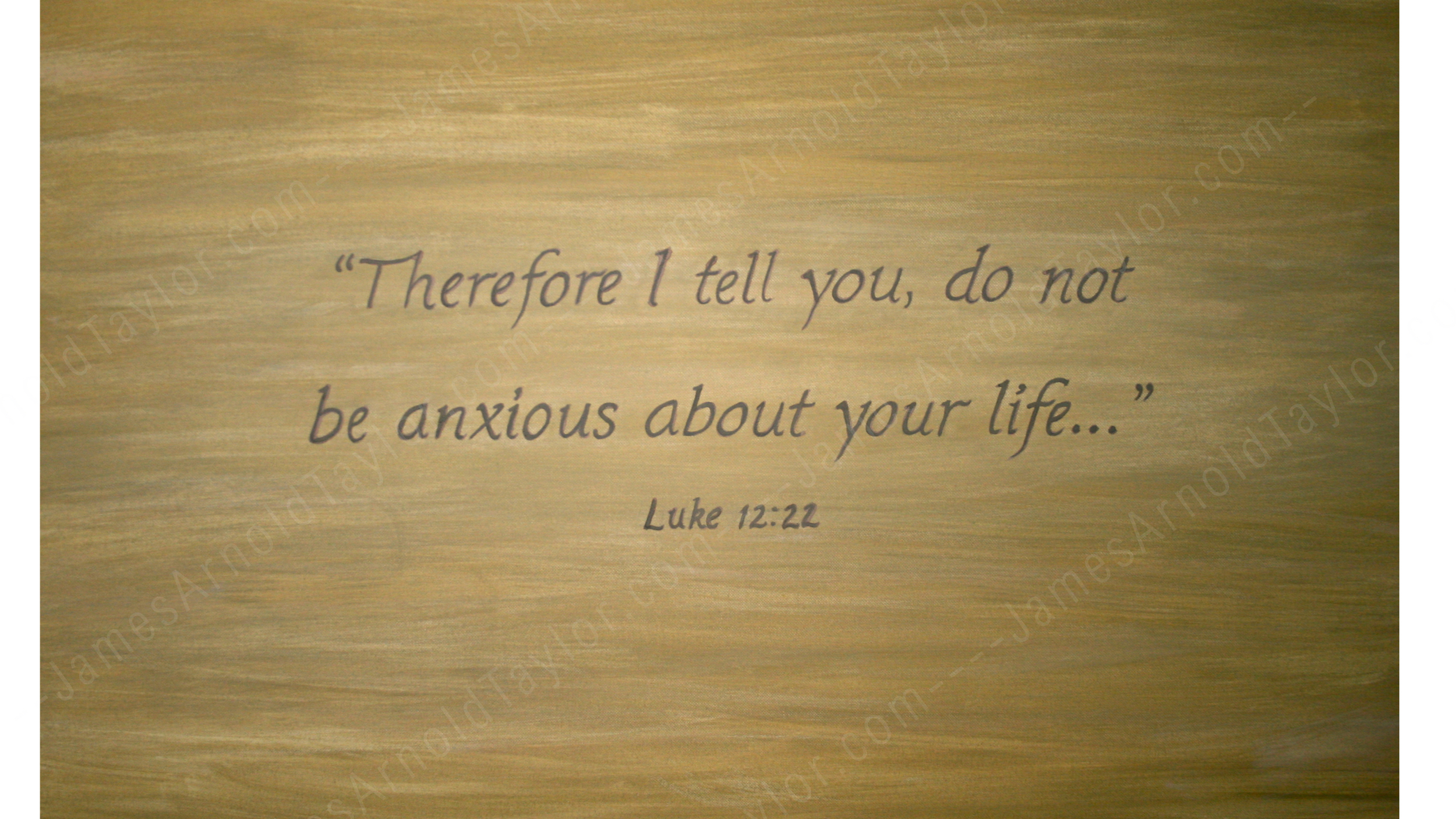 """Luke 12:22"" (clay paint on canvas 18"" x 24"") By James Arnold Taylor 2010"