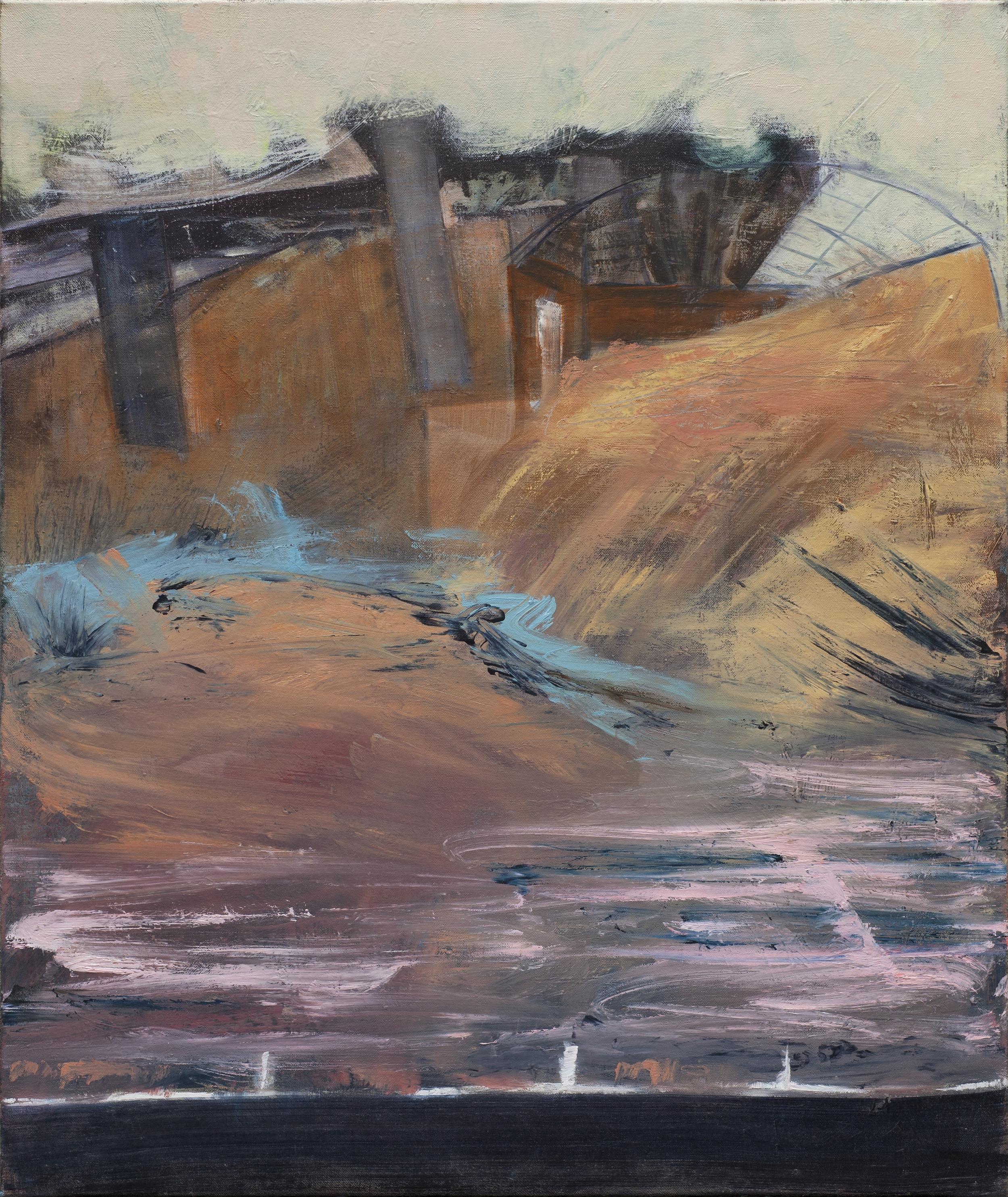 Stunde t = 0, oil on canvas (III), 90 x 95,5 cm