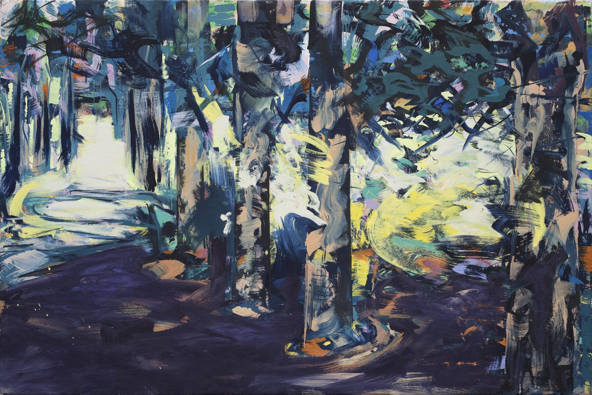 Verborgen, oil on canvas, 122 x 180 cm