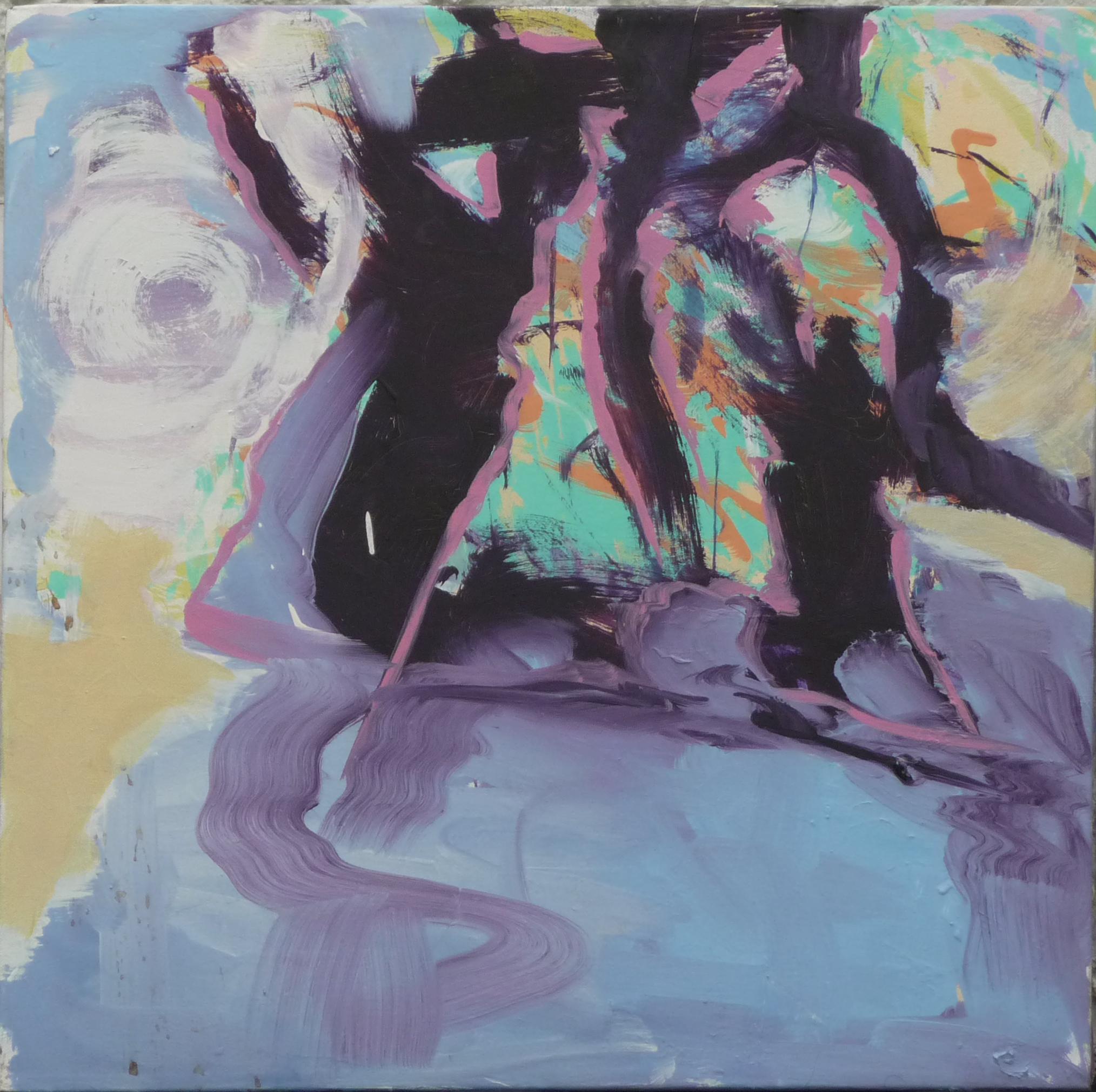 Abauf-Grund, oil on canvas, 60 x 60 cm
