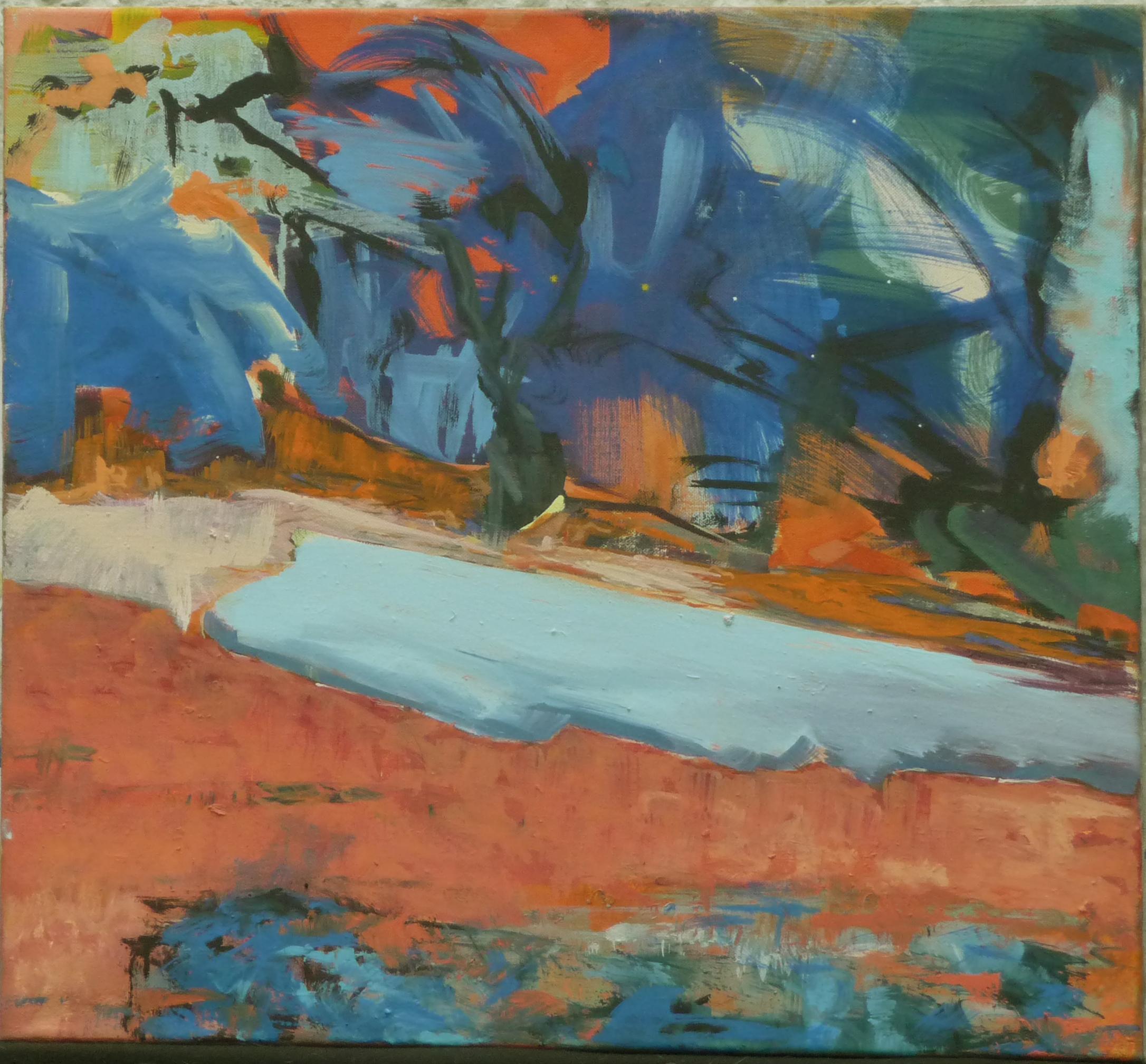 Schwebender Zustand, oil on canvas, 60 x 66 cm