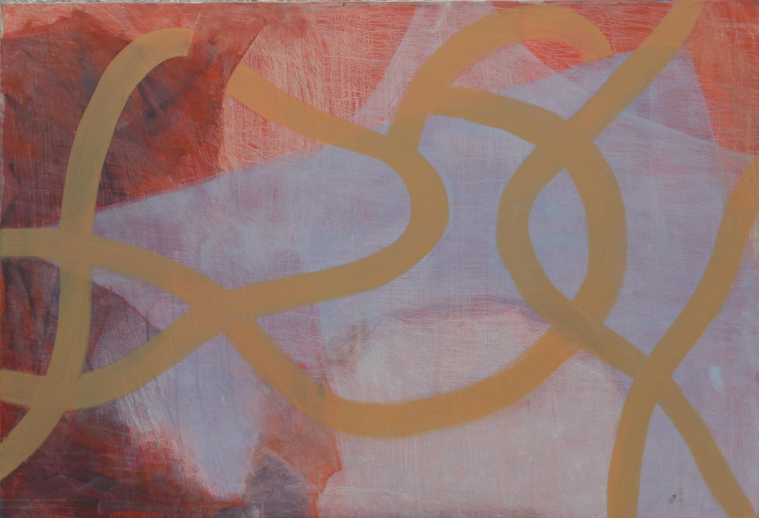 Schemenhaft, Oil on canvas, 110 x 160 cm