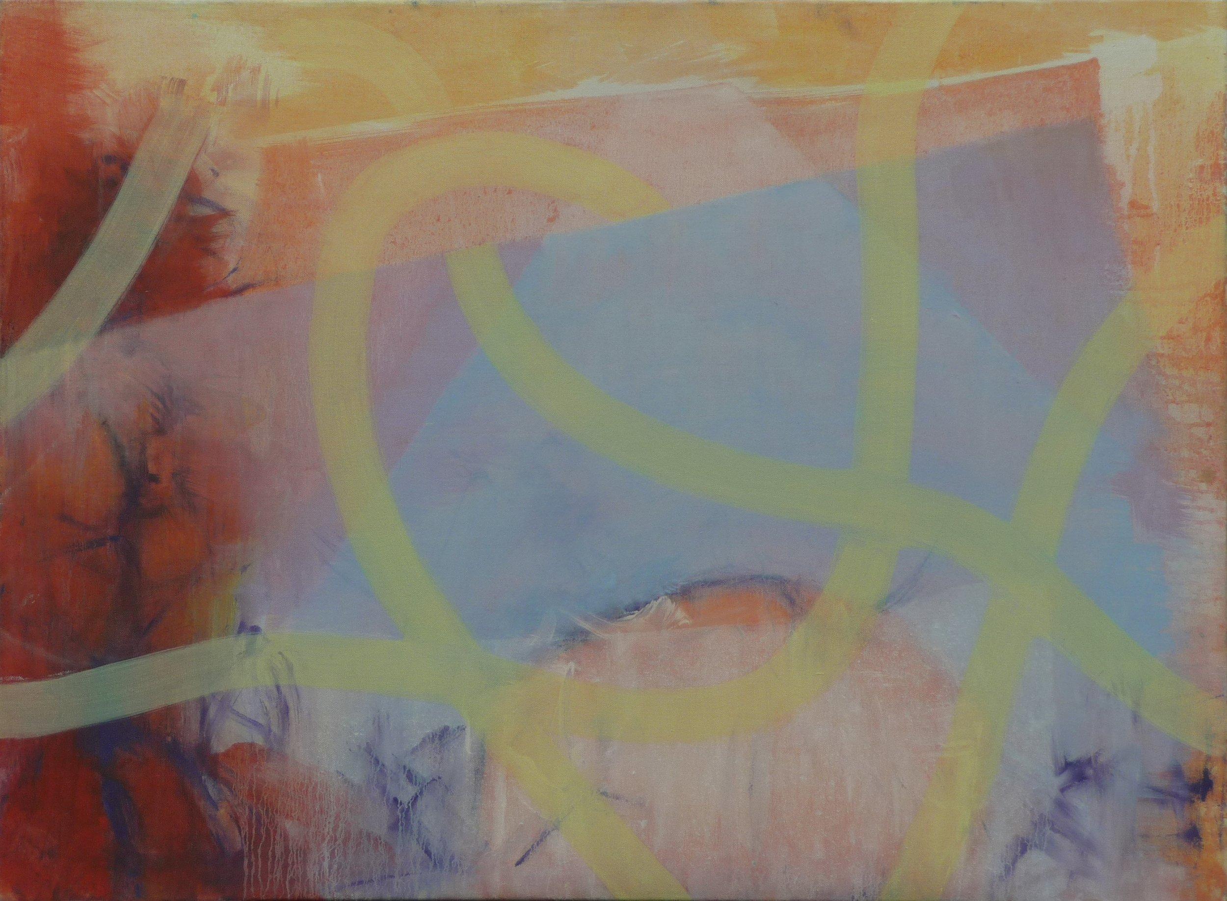 Schemenhaft iii, Oil on canvas, 80 x 110 cm