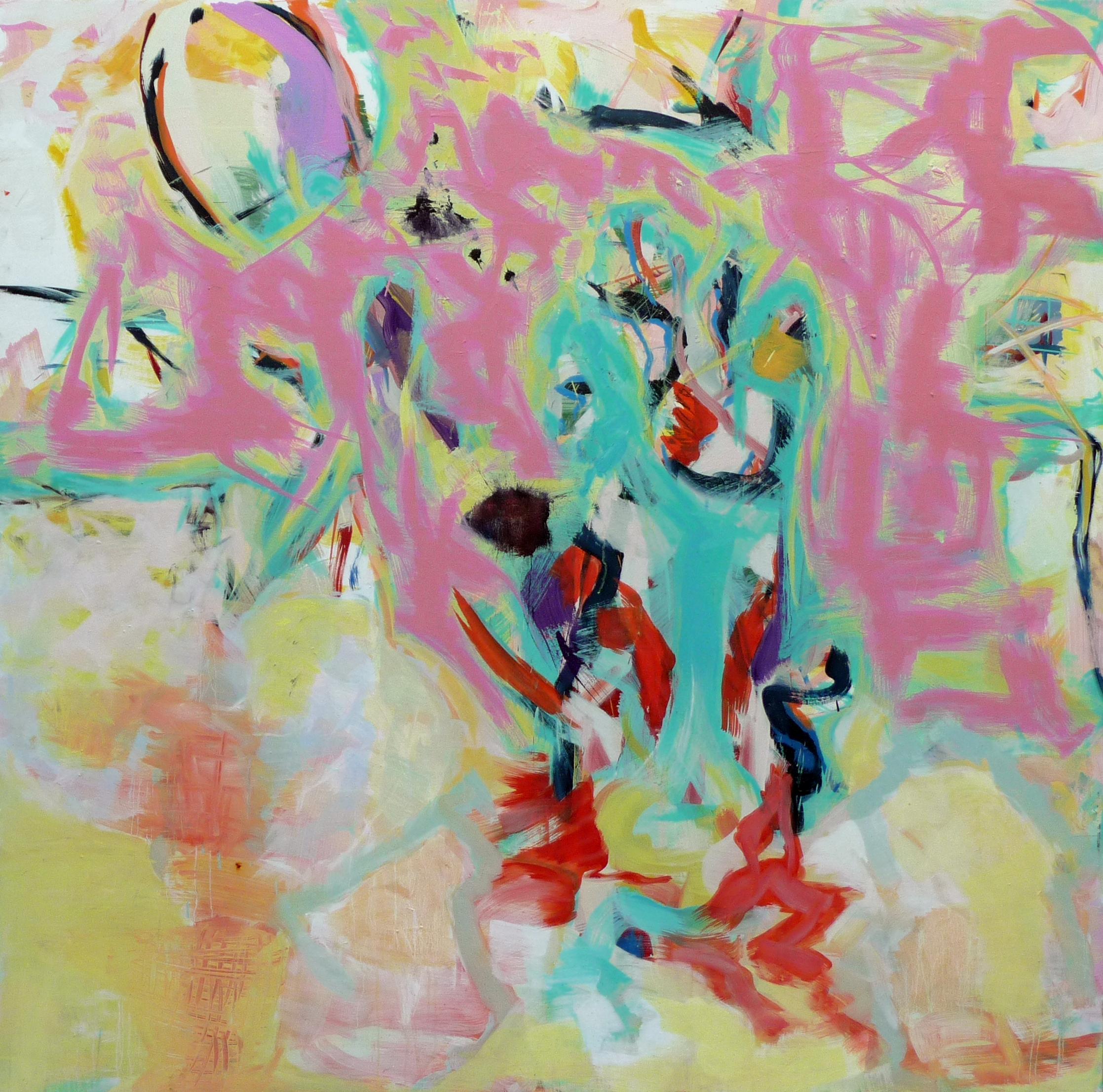 Z.t., Oil on wood, 153 x 153 cm