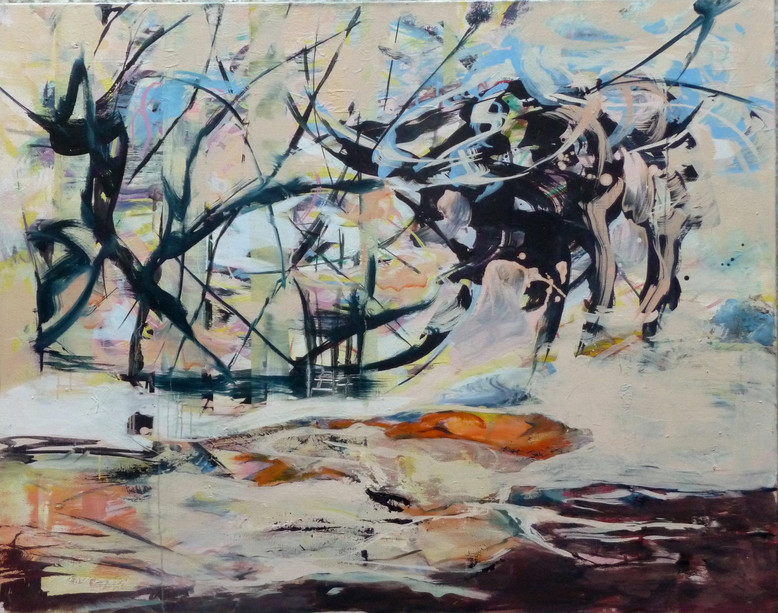 Verborgen V, oil on canvas, 110 x 140 cm