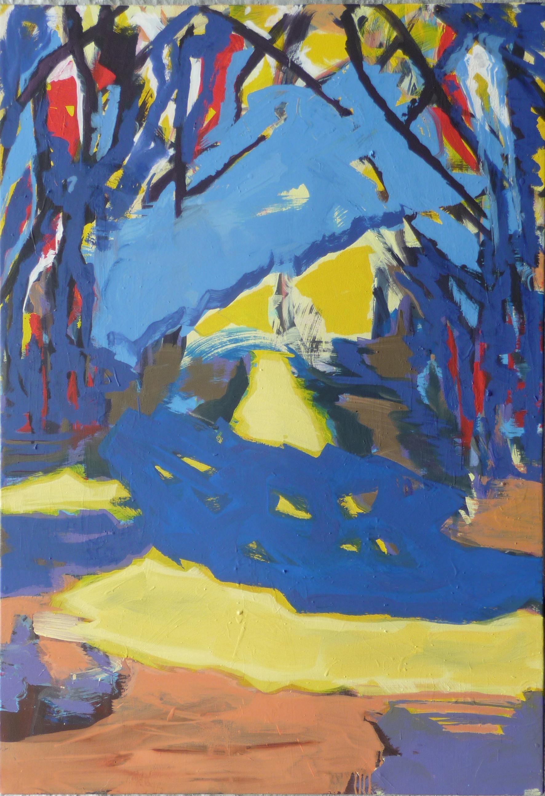 Schatten, oil on canvas, 90 x 130 cm