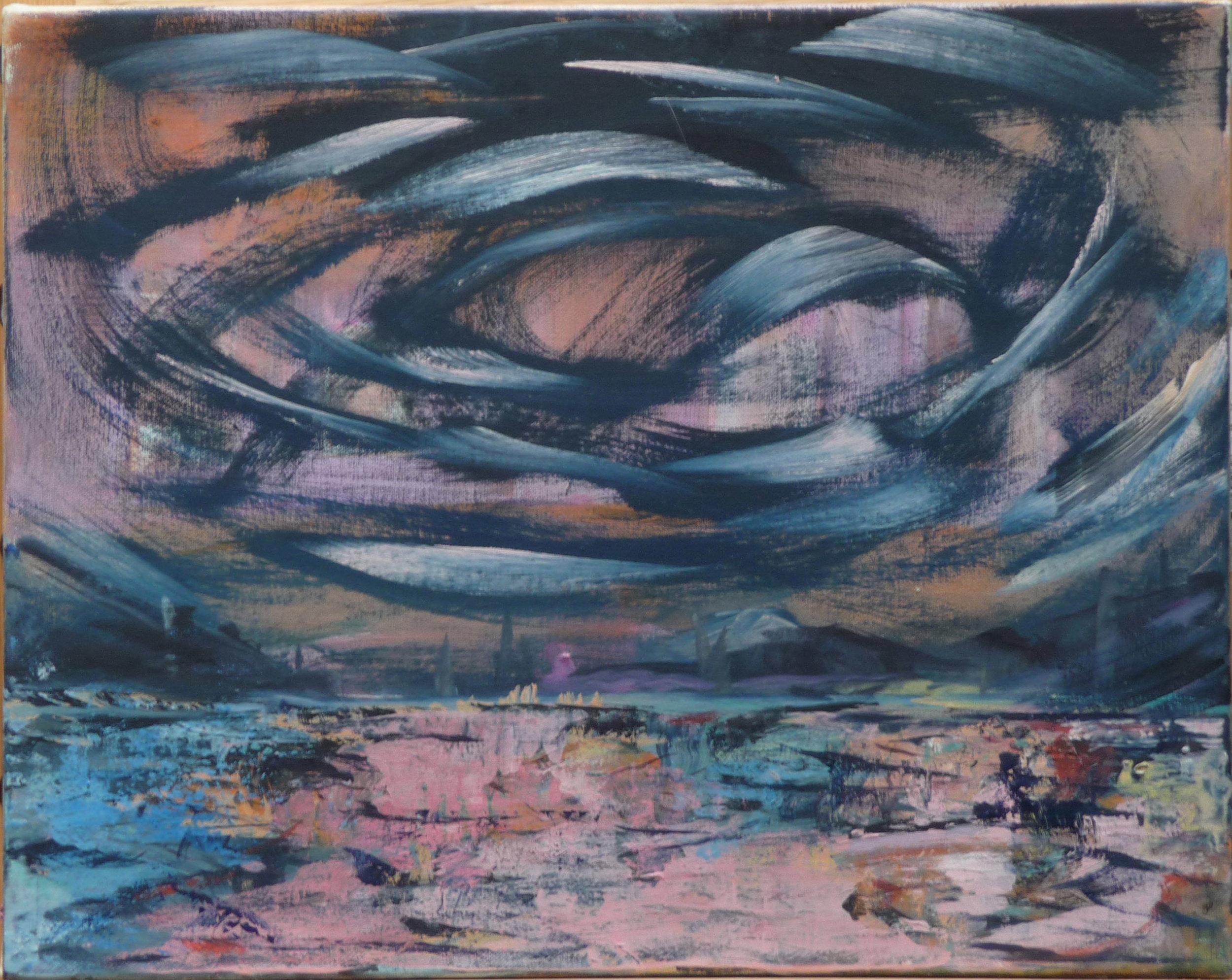 Vergeten iii, oil on canvas, 30 x 40 cm