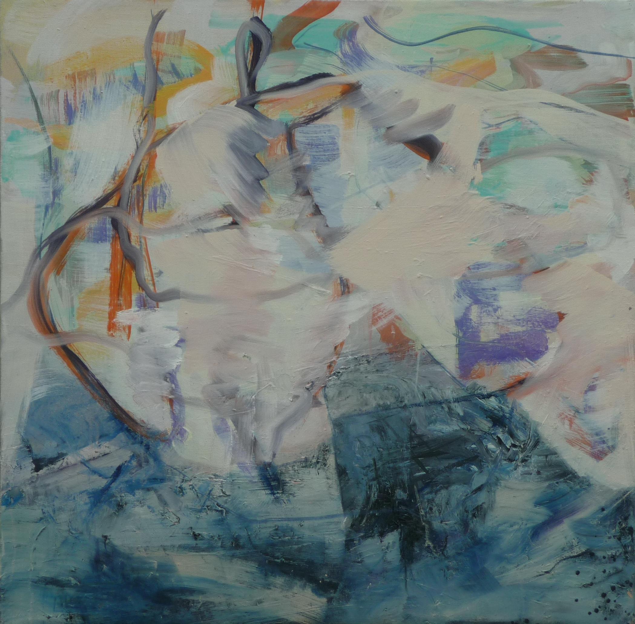 Verwoben ii, oil on canvas, 80 x 80 cm
