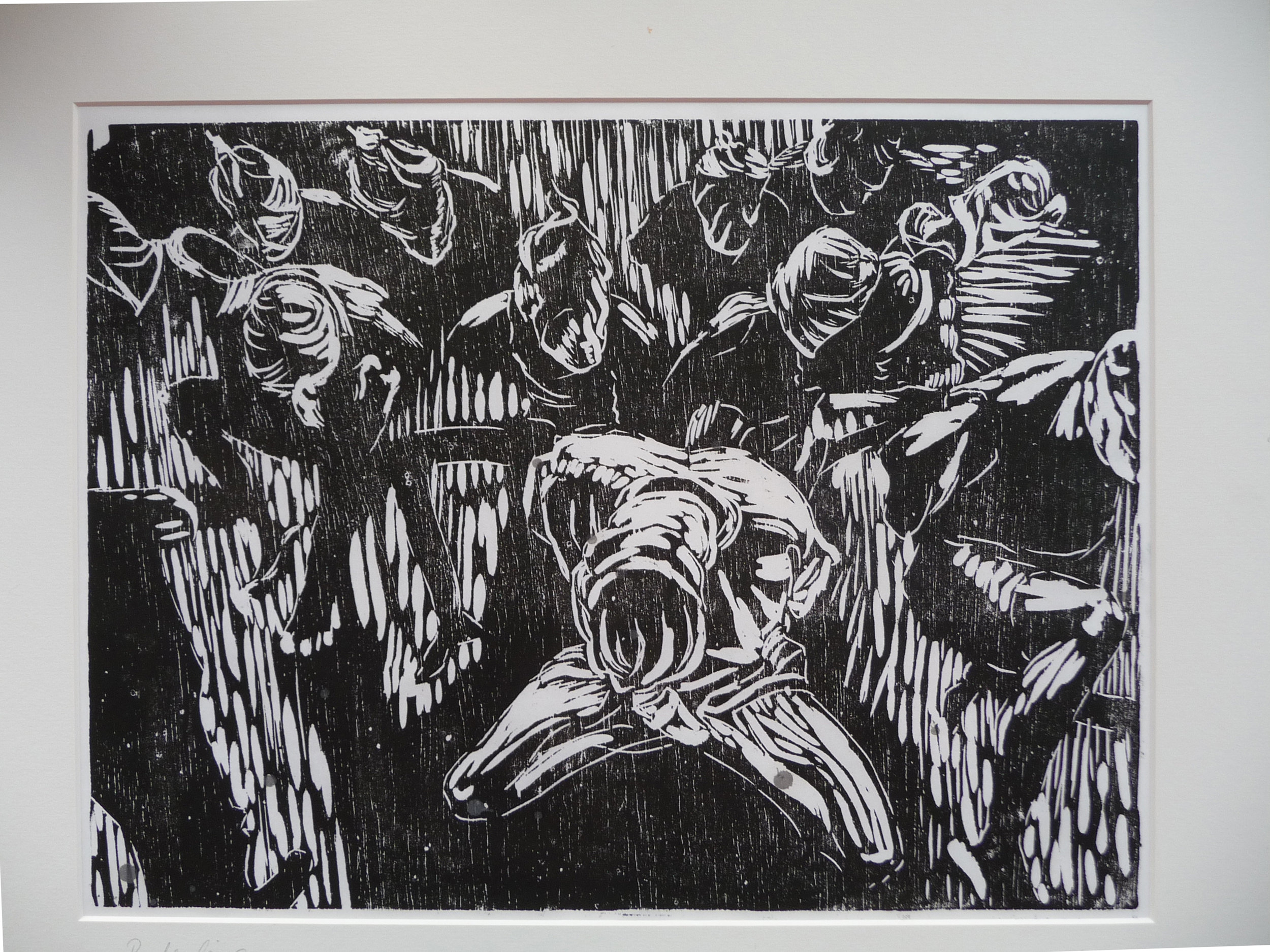 Vonnis, woodcut, 30,7 x 40 cm, 2011